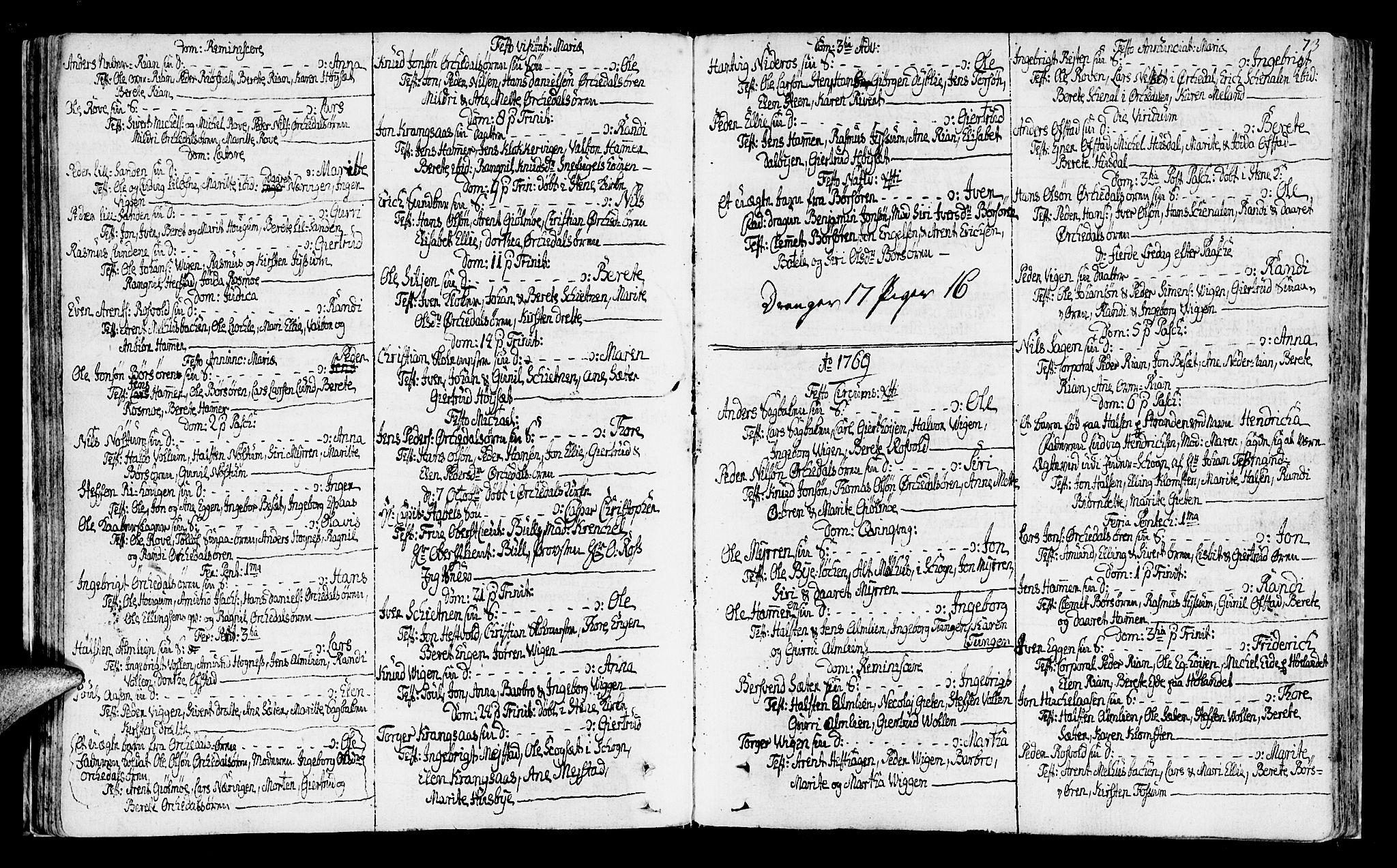 SAT, Ministerialprotokoller, klokkerbøker og fødselsregistre - Sør-Trøndelag, 665/L0768: Ministerialbok nr. 665A03, 1754-1803, s. 73