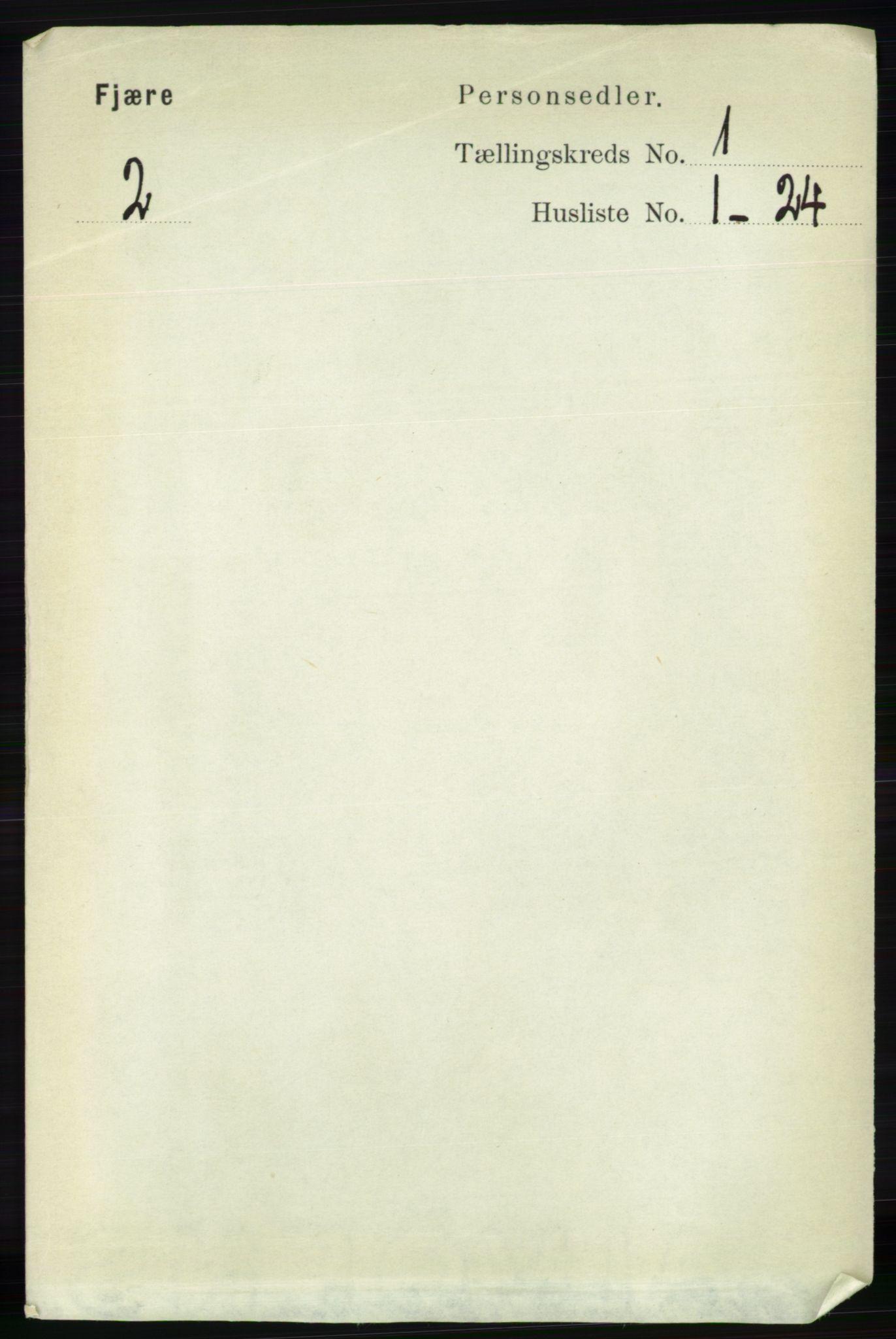 RA, Folketelling 1891 for 0923 Fjære herred, 1891, s. 120