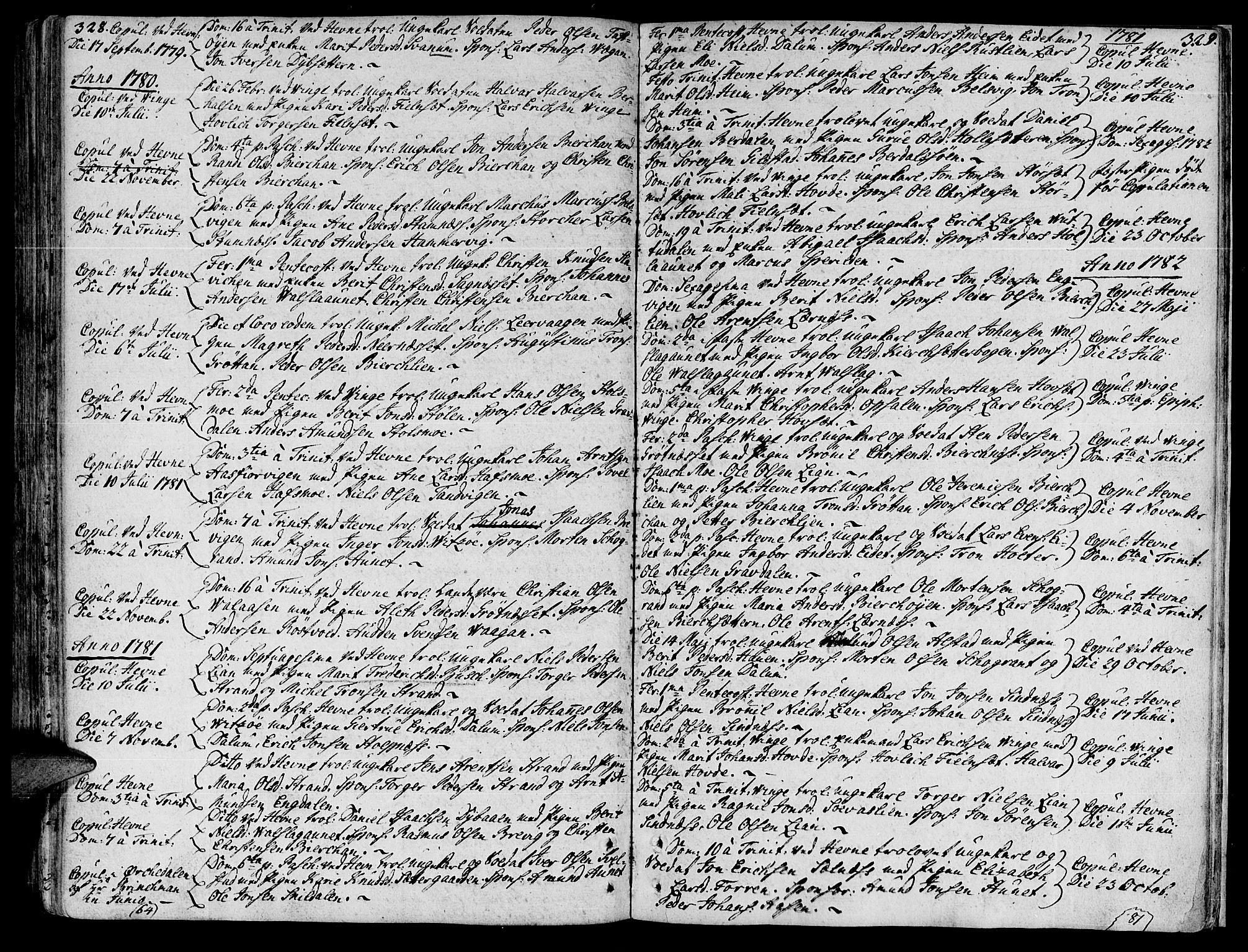 SAT, Ministerialprotokoller, klokkerbøker og fødselsregistre - Sør-Trøndelag, 630/L0489: Ministerialbok nr. 630A02, 1757-1794, s. 328-329