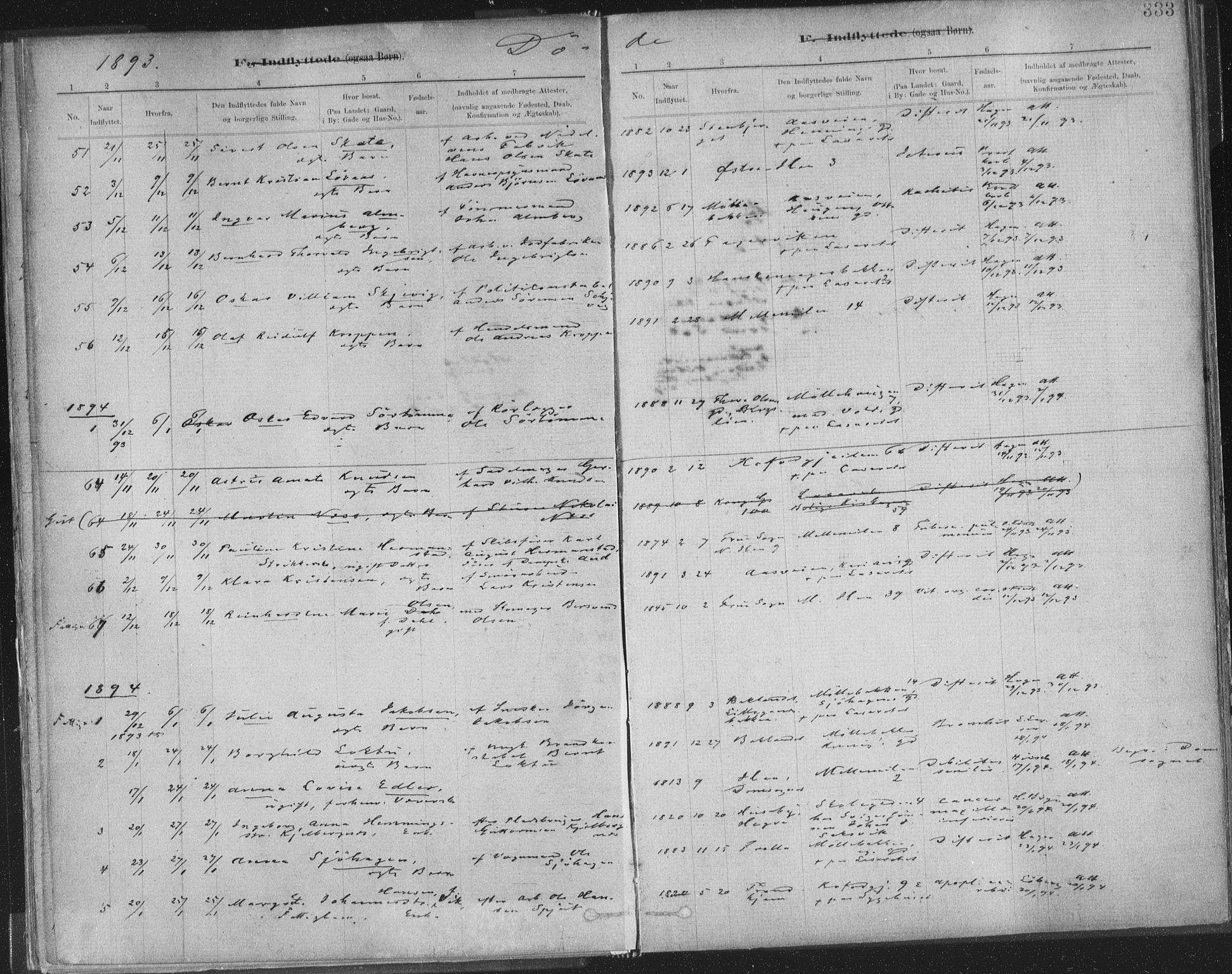 SAT, Ministerialprotokoller, klokkerbøker og fødselsregistre - Sør-Trøndelag, 603/L0163: Ministerialbok nr. 603A02, 1879-1895, s. 333