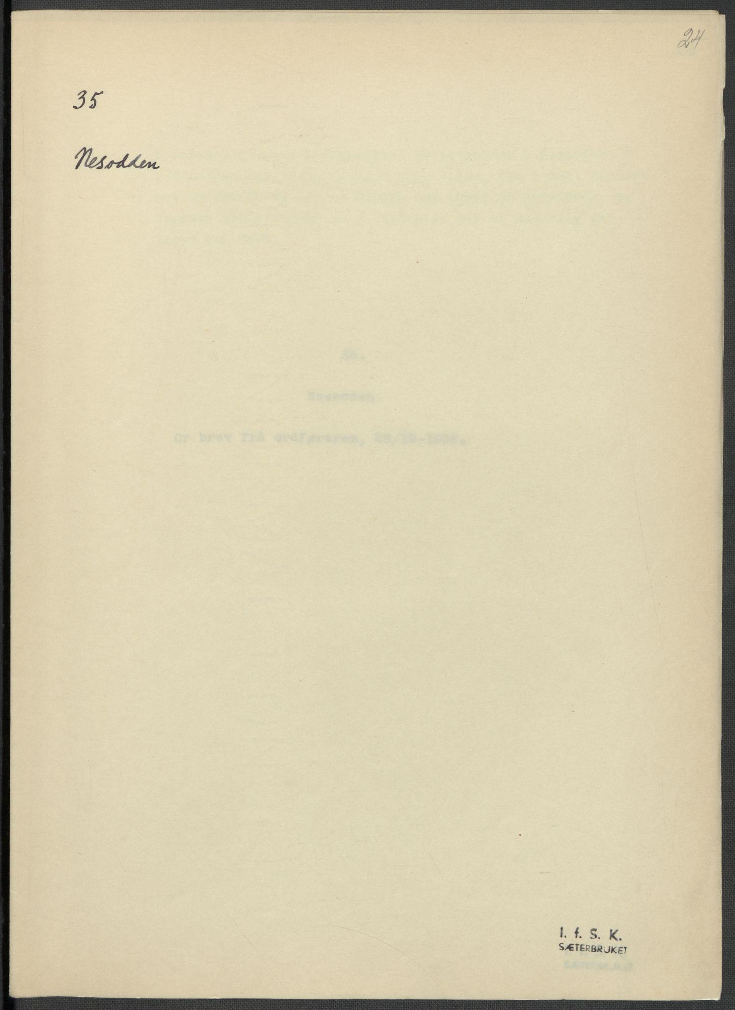 RA, Instituttet for sammenlignende kulturforskning, F/Fc/L0002: Eske B2:, 1932-1936, s. 24