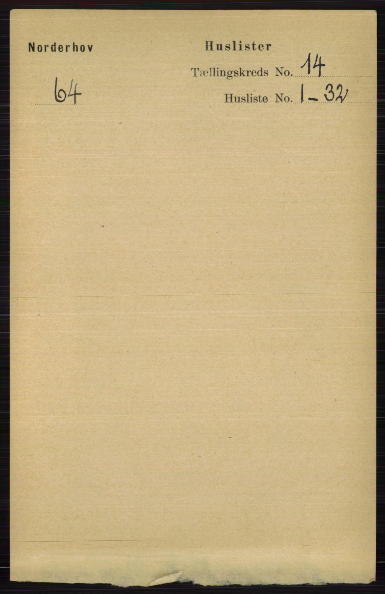 RA, Folketelling 1891 for 0613 Norderhov herred, 1891, s. 9294