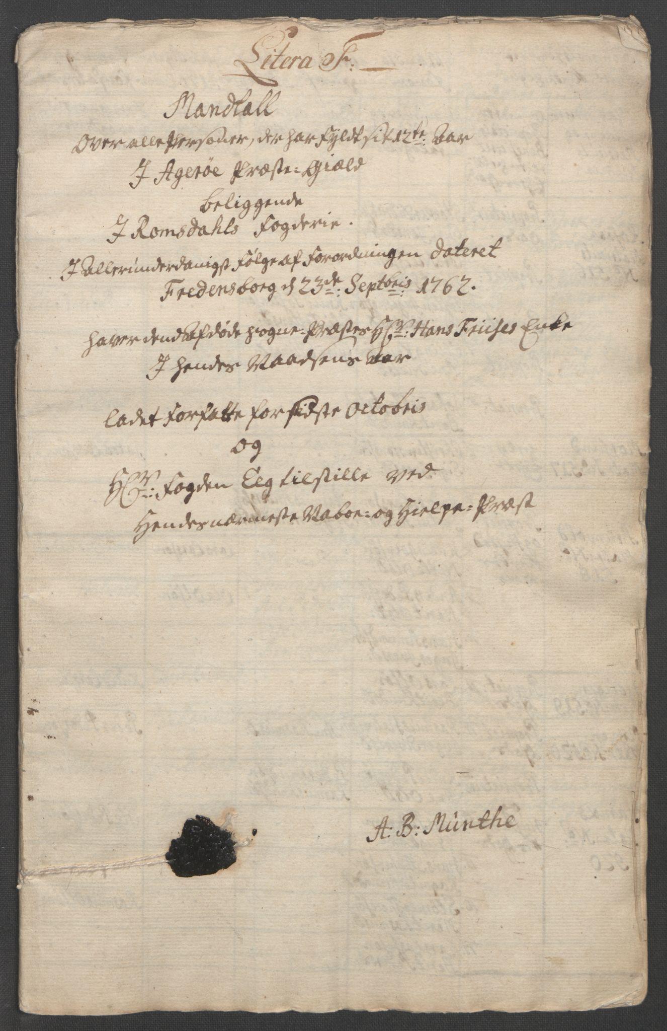 RA, Rentekammeret inntil 1814, Reviderte regnskaper, Fogderegnskap, R55/L3730: Ekstraskatten Romsdal, 1762-1763, s. 309