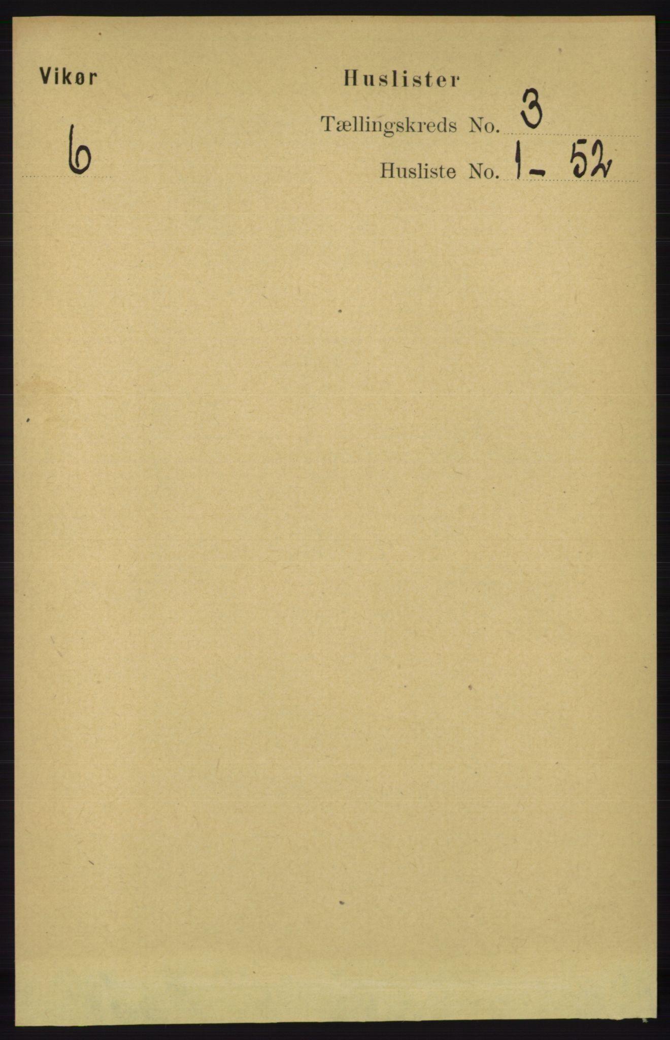 RA, Folketelling 1891 for 1238 Vikør herred, 1891, s. 692