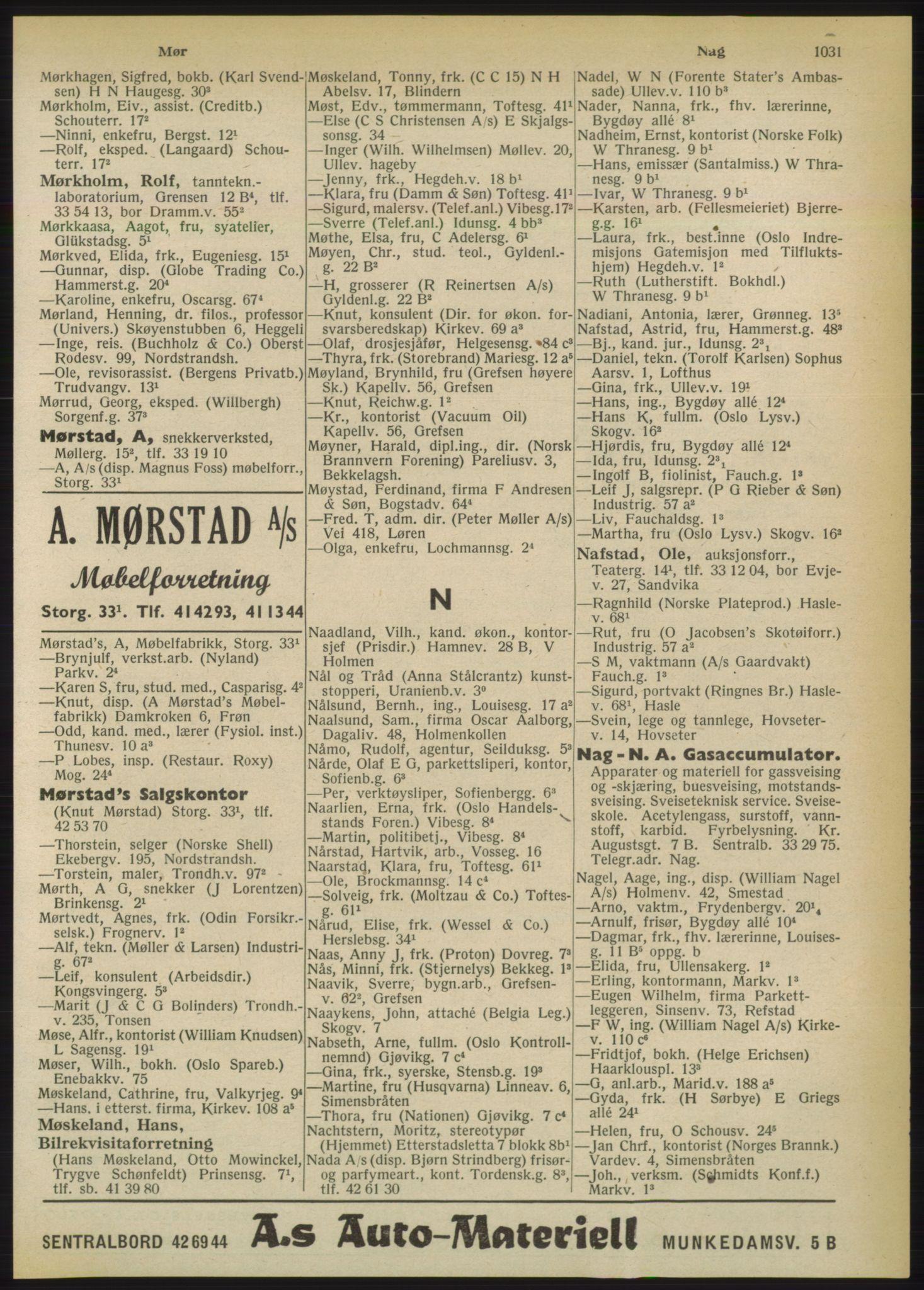 PUBL, Kristiania/Oslo adressebok, 1950, s. 1031
