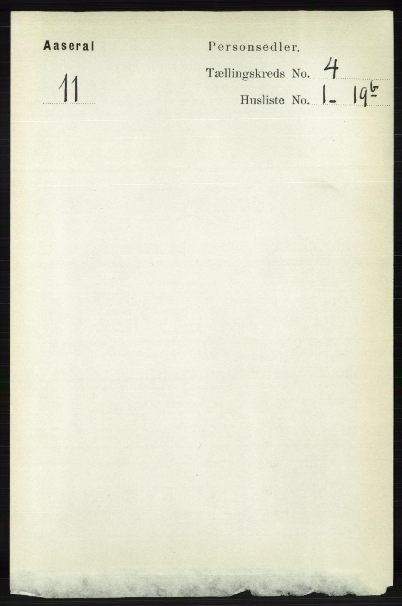 RA, Folketelling 1891 for 1026 Åseral herred, 1891, s. 1164