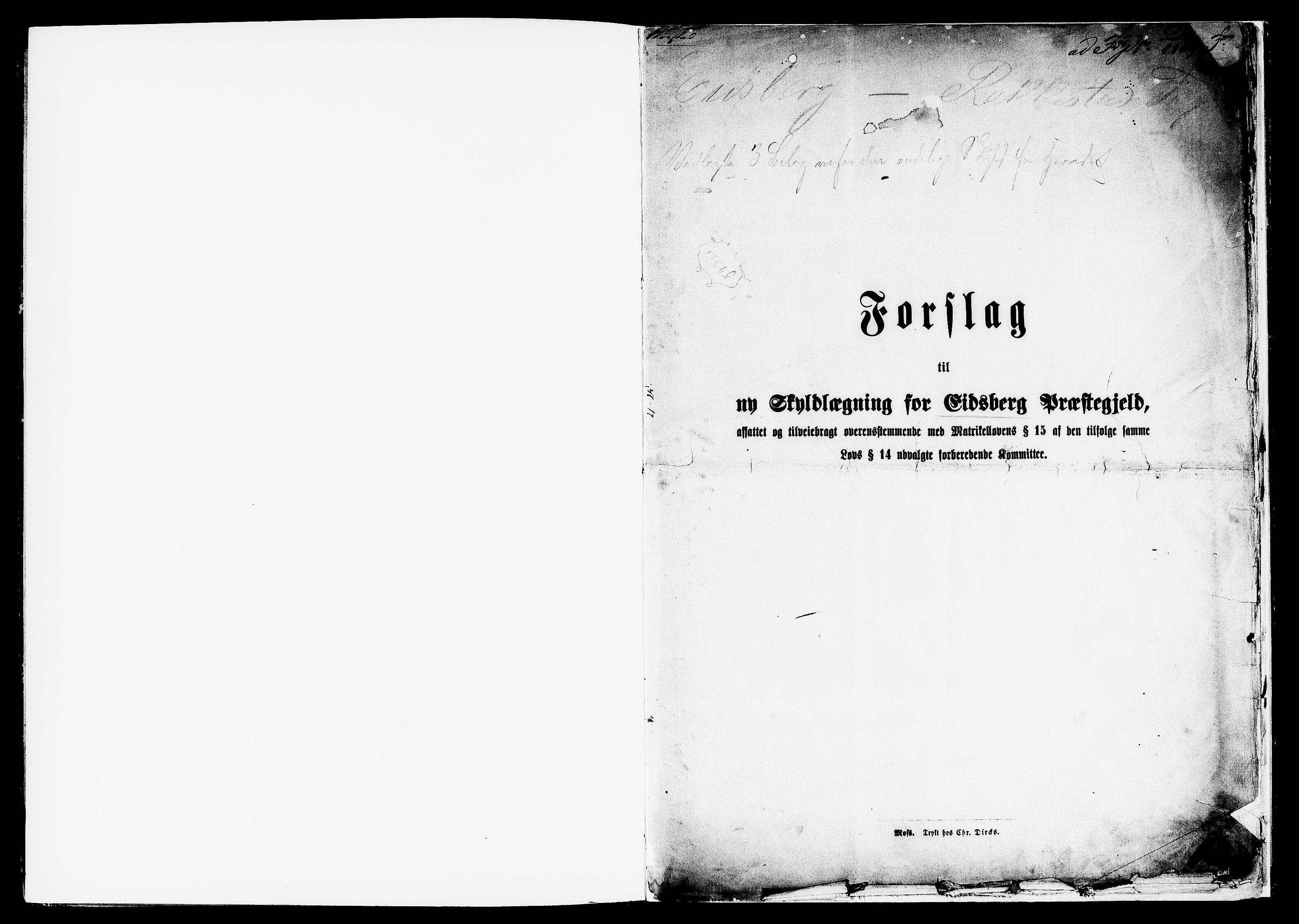 RA, Matrikkelrevisjonen av 1863, F/Fe/L0006: Eidsberg, 1863