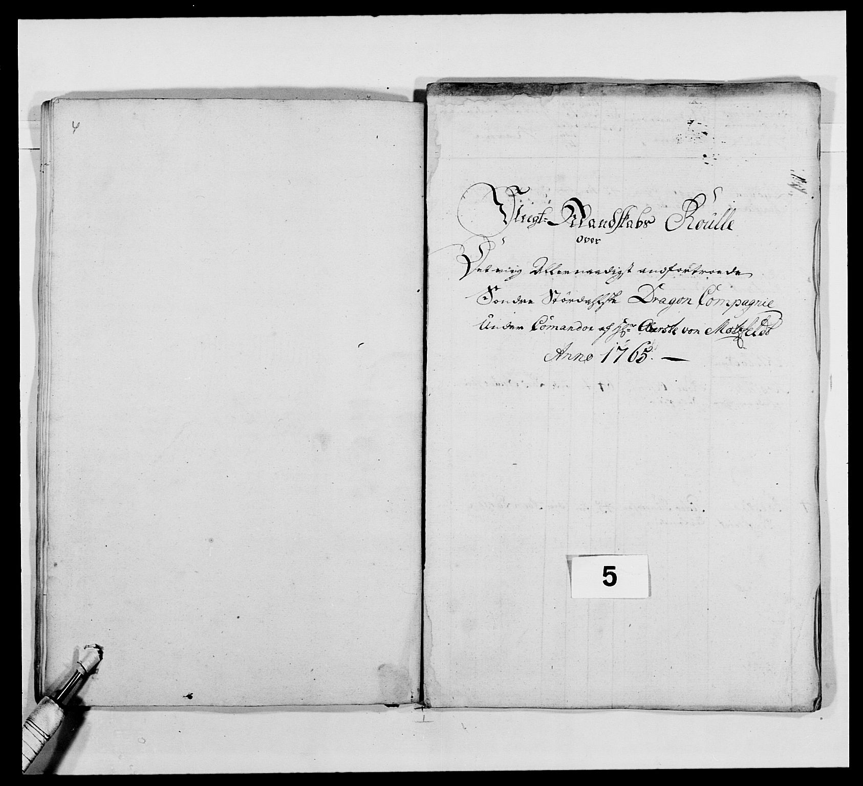 RA, Kommanderende general (KG I) med Det norske krigsdirektorium, E/Ea/L0483: Nordafjelske dragonregiment, 1765-1767, s. 87