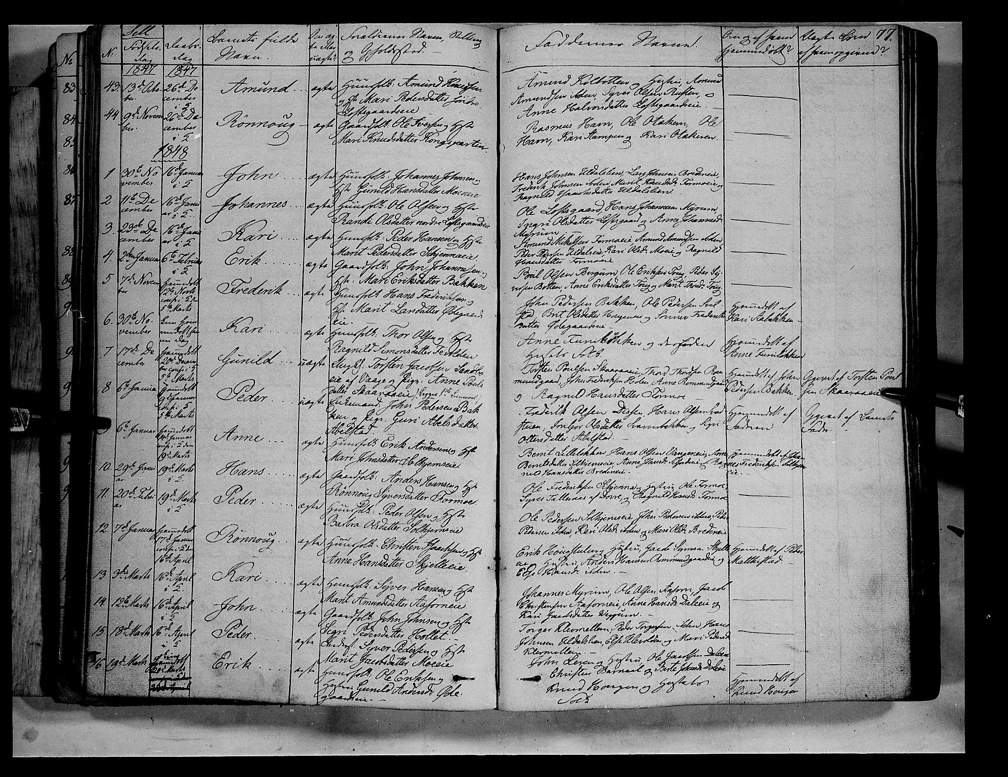 SAH, Vågå prestekontor, Ministerialbok nr. 5 /3, 1842-1856, s. 77