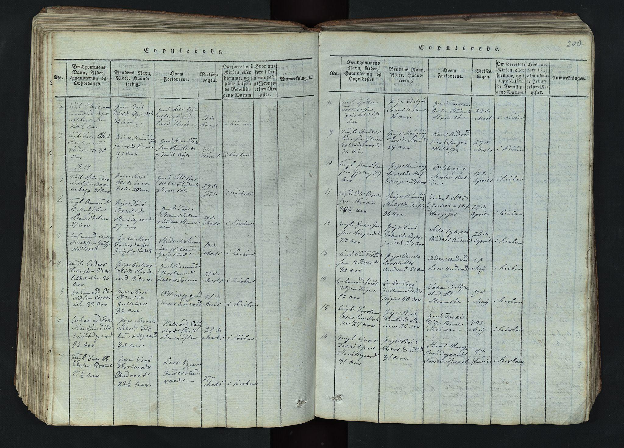 SAH, Lom prestekontor, L/L0002: Klokkerbok nr. 2, 1815-1844, s. 200