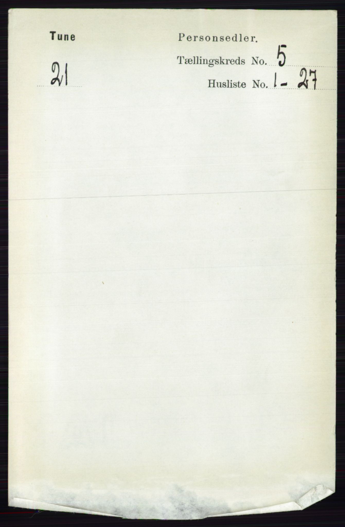 RA, Folketelling 1891 for 0130 Tune herred, 1891, s. 3271