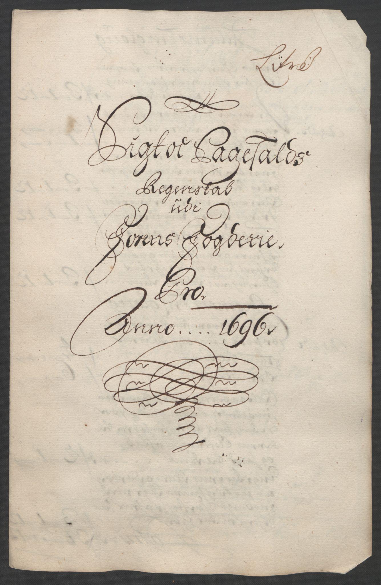RA, Rentekammeret inntil 1814, Reviderte regnskaper, Fogderegnskap, R57/L3851: Fogderegnskap Fosen, 1695-1696, s. 274