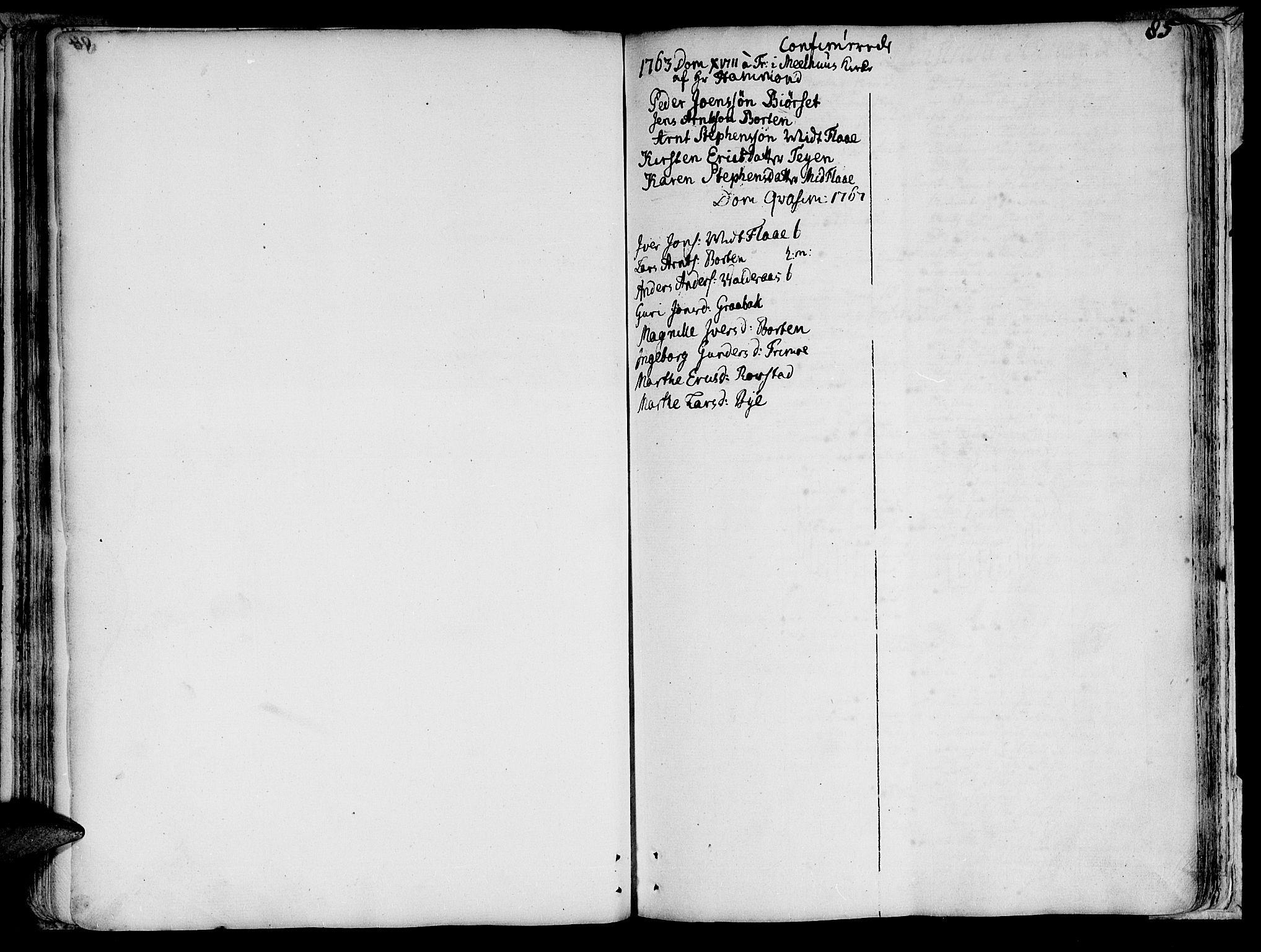 SAT, Ministerialprotokoller, klokkerbøker og fødselsregistre - Sør-Trøndelag, 691/L1057: Ministerialbok nr. 691A01 /1, 1740-1767, s. 85