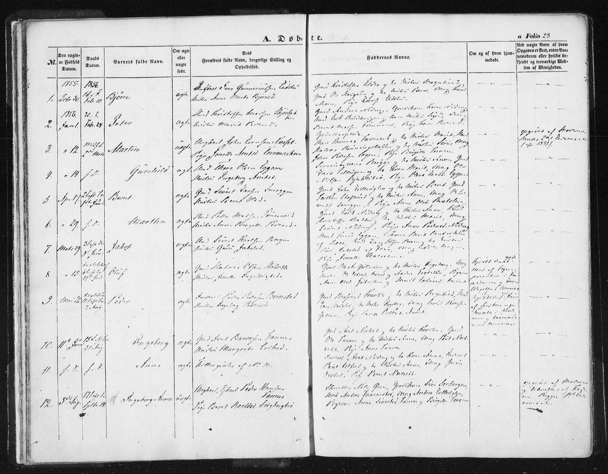 SAT, Ministerialprotokoller, klokkerbøker og fødselsregistre - Sør-Trøndelag, 618/L0441: Ministerialbok nr. 618A05, 1843-1862, s. 23
