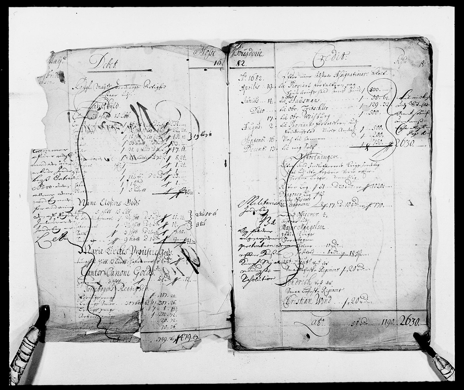 RA, Rentekammeret inntil 1814, Reviderte regnskaper, Fogderegnskap, R02/L0104: Fogderegnskap Moss og Verne kloster, 1682-1684, s. 3