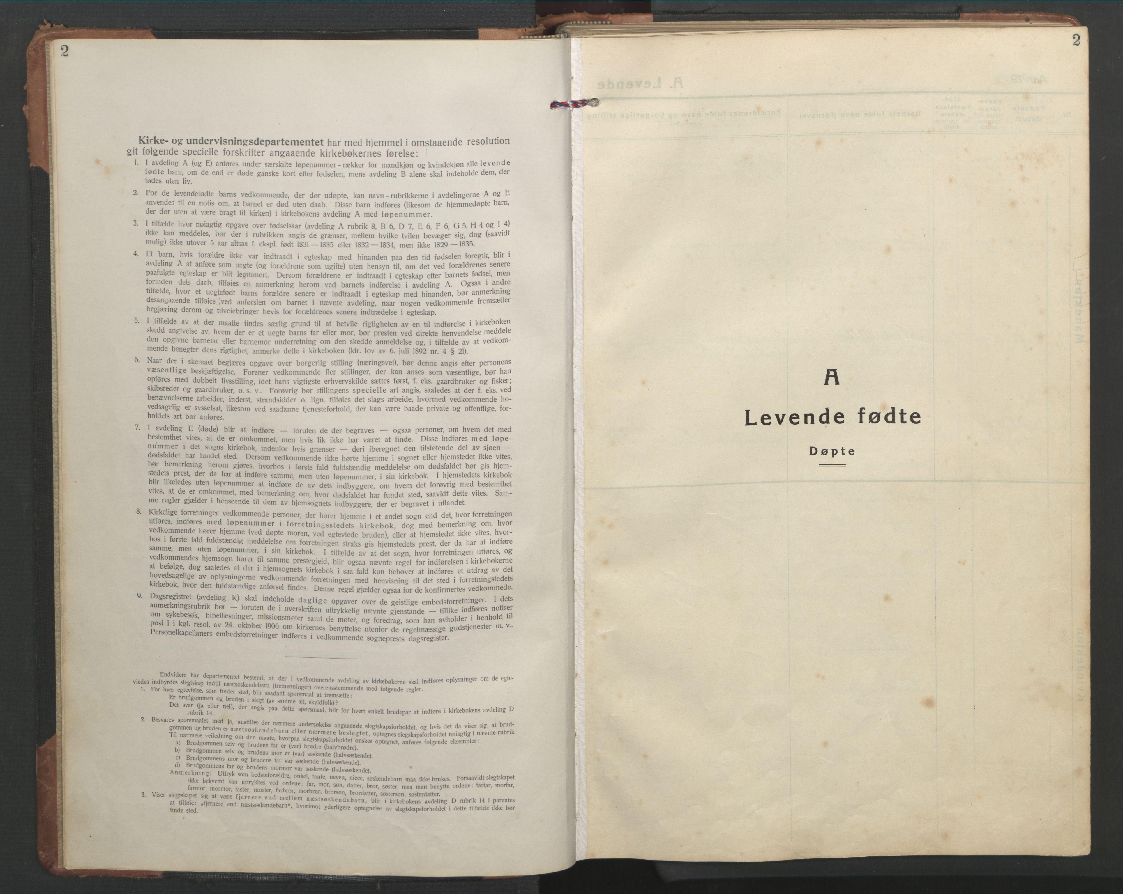 SAT, Ministerialprotokoller, klokkerbøker og fødselsregistre - Sør-Trøndelag, 638/L0569: Klokkerbok nr. 638C01, 1923-1961, s. 2