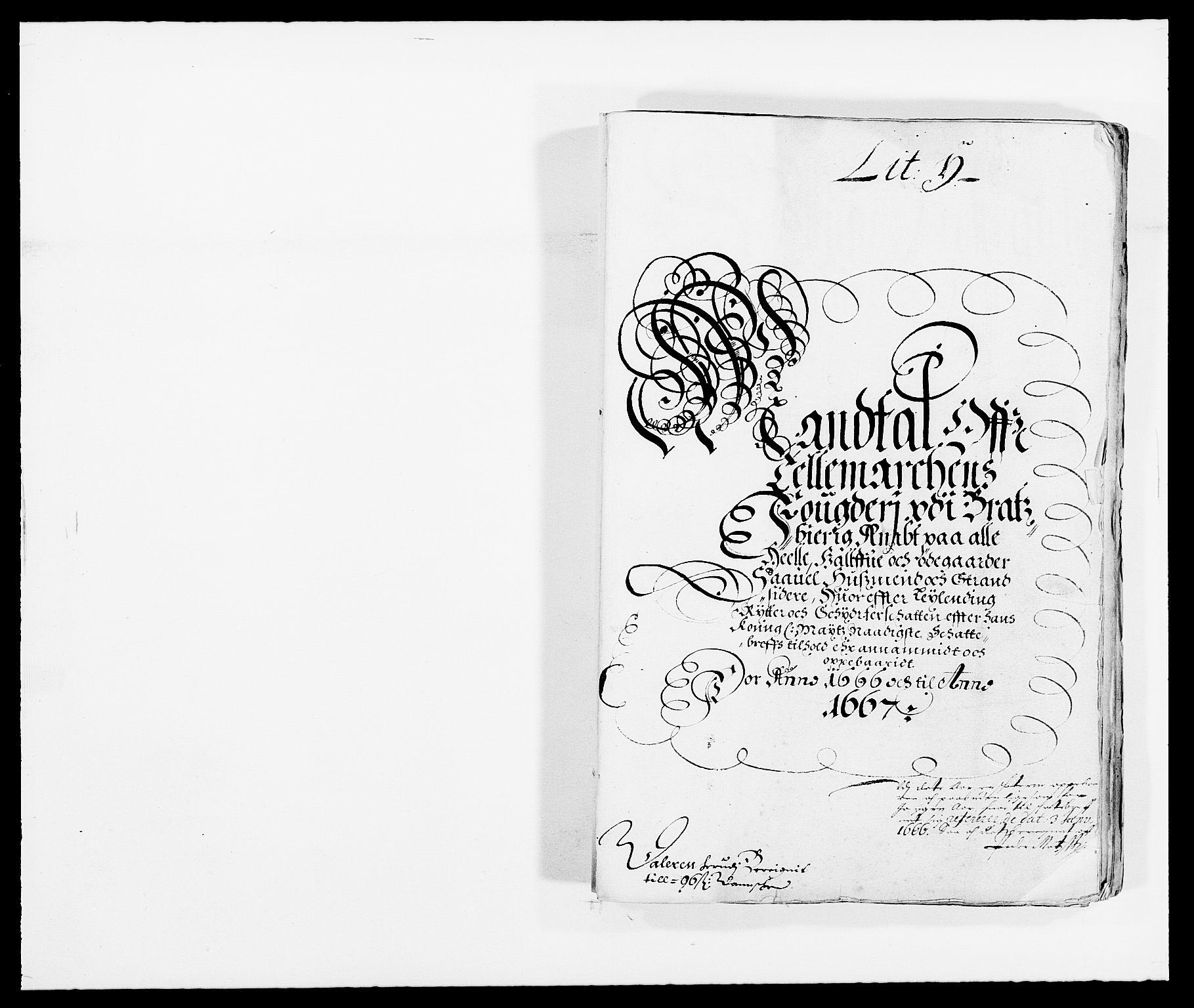 RA, Rentekammeret inntil 1814, Reviderte regnskaper, Fogderegnskap, R35/L2057: Fogderegnskap Øvre og Nedre Telemark, 1666-1667, s. 6