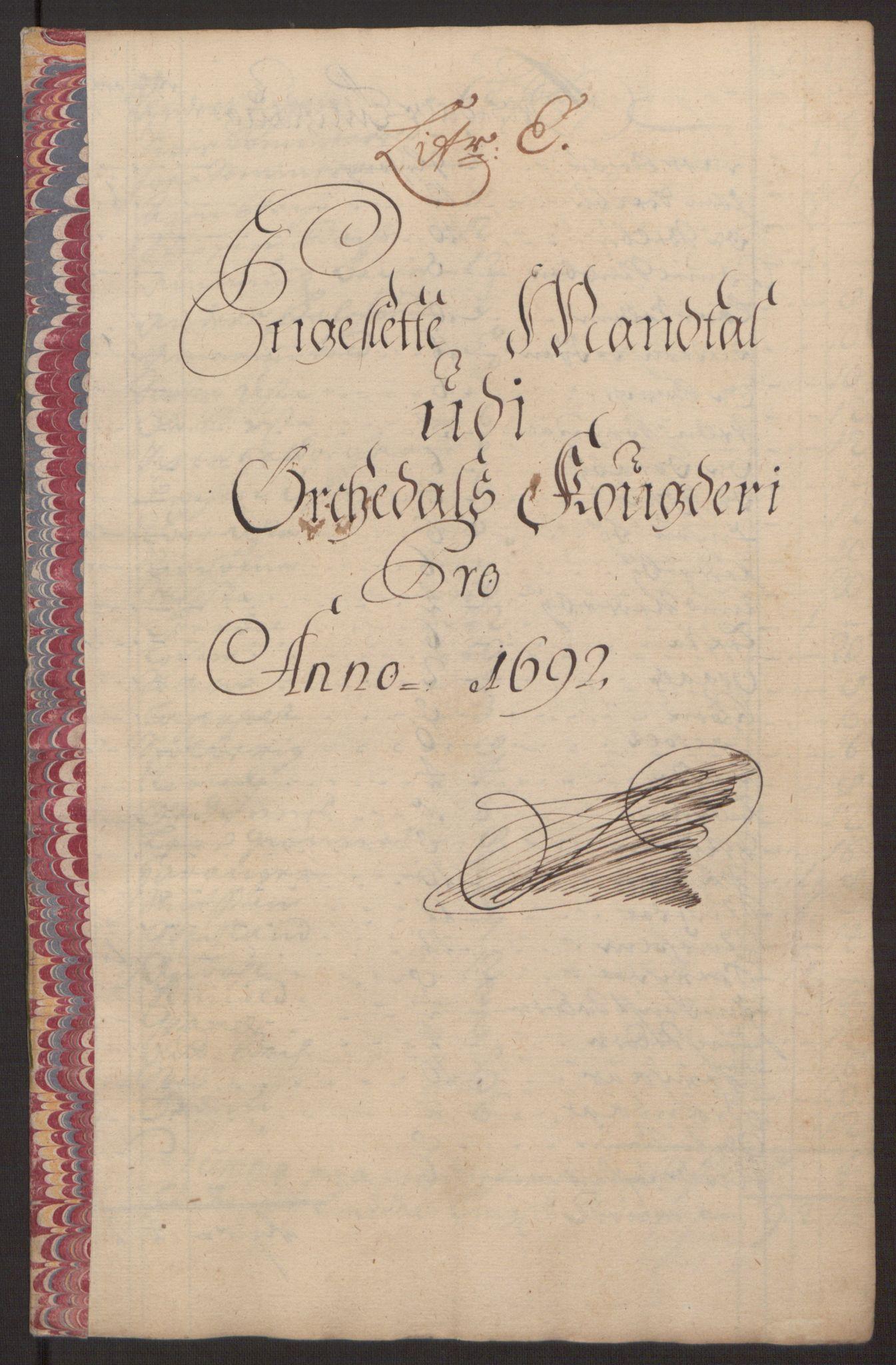 RA, Rentekammeret inntil 1814, Reviderte regnskaper, Fogderegnskap, R58/L3937: Fogderegnskap Orkdal, 1691-1692, s. 248