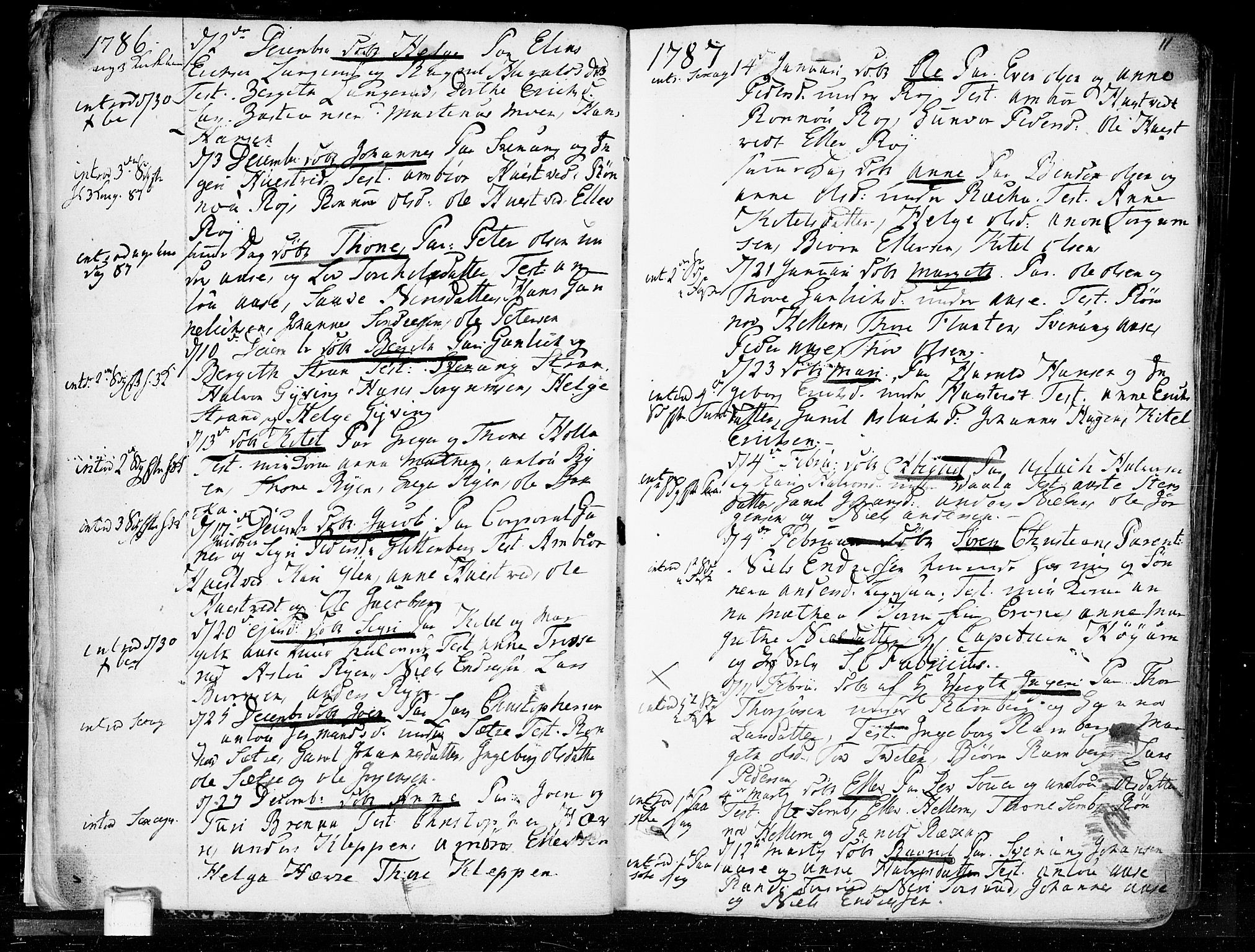SAKO, Heddal kirkebøker, F/Fa/L0004: Ministerialbok nr. I 4, 1784-1814, s. 11