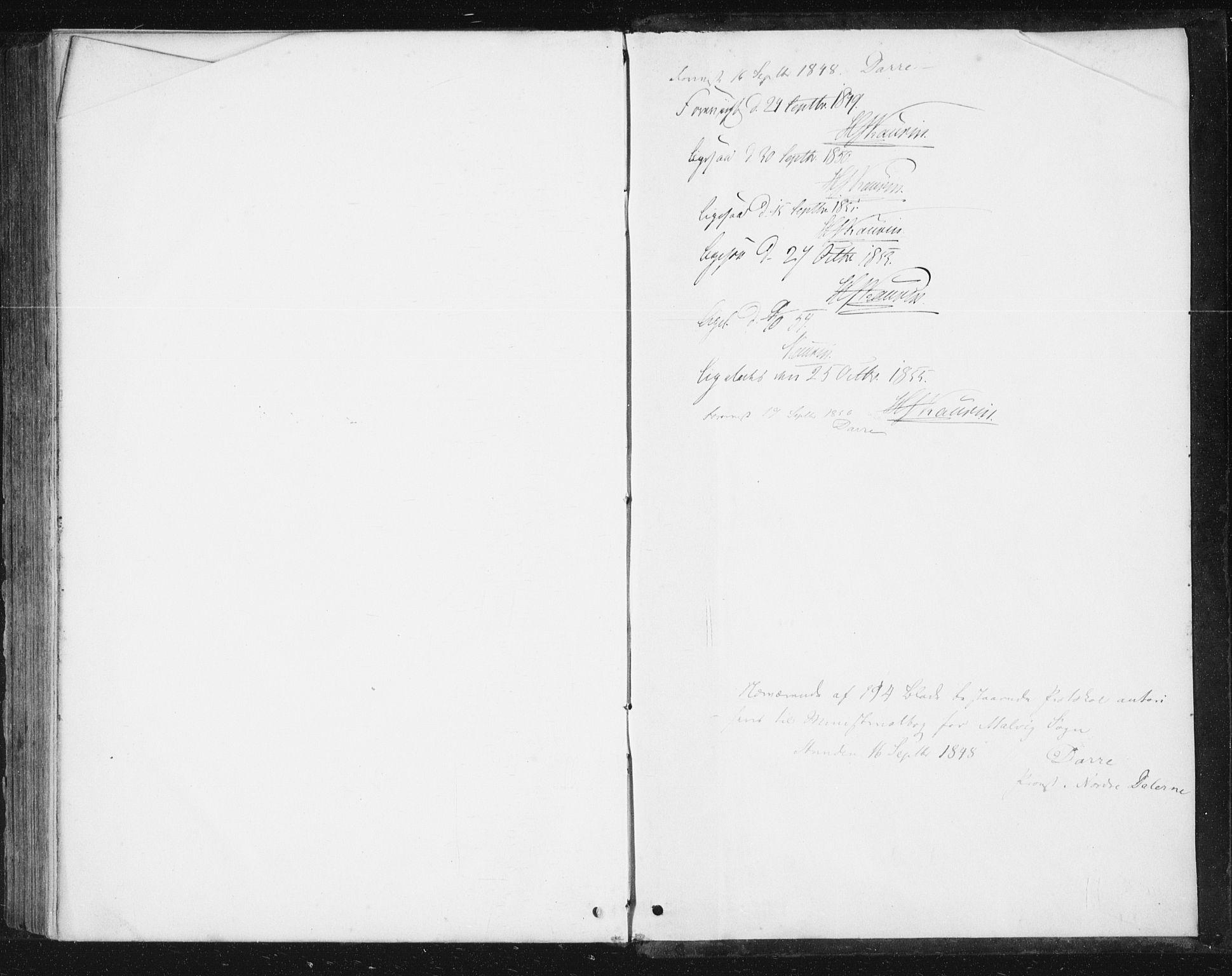 SAT, Ministerialprotokoller, klokkerbøker og fødselsregistre - Sør-Trøndelag, 616/L0407: Ministerialbok nr. 616A04, 1848-1856