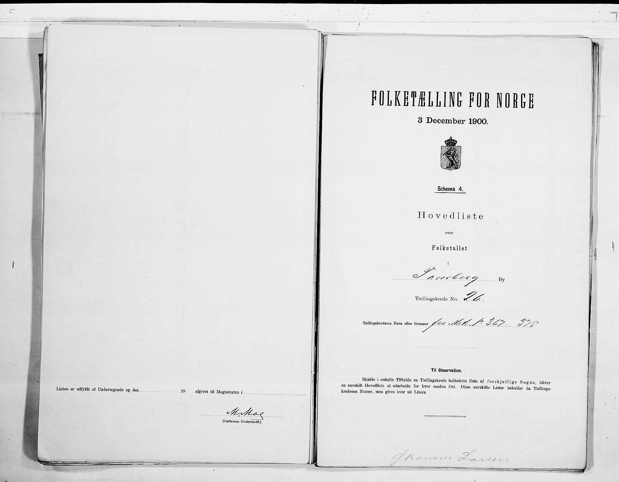 RA, Folketelling 1900 for 0705 Tønsberg kjøpstad, 1900, s. 54