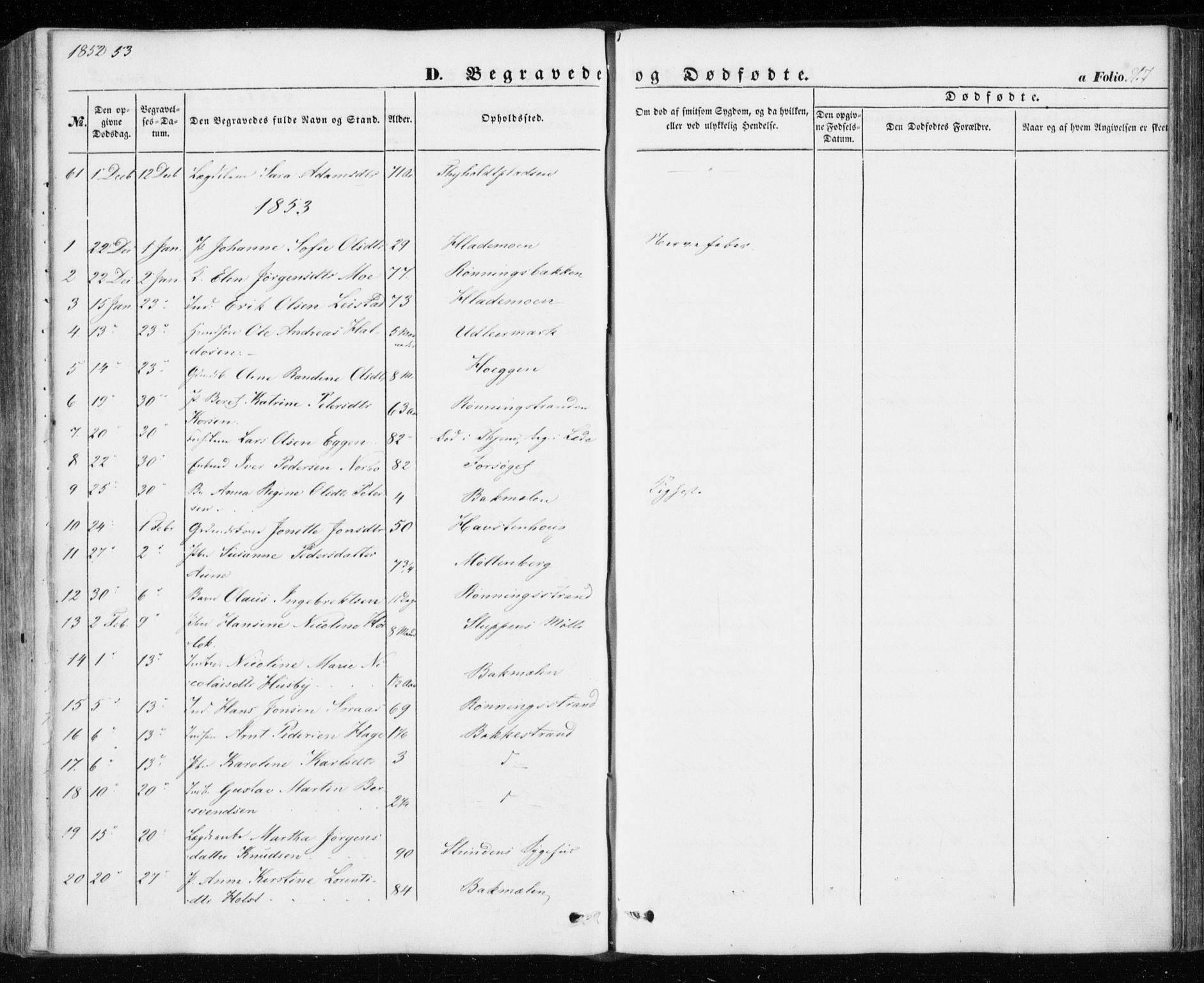SAT, Ministerialprotokoller, klokkerbøker og fødselsregistre - Sør-Trøndelag, 606/L0291: Ministerialbok nr. 606A06, 1848-1856, s. 267