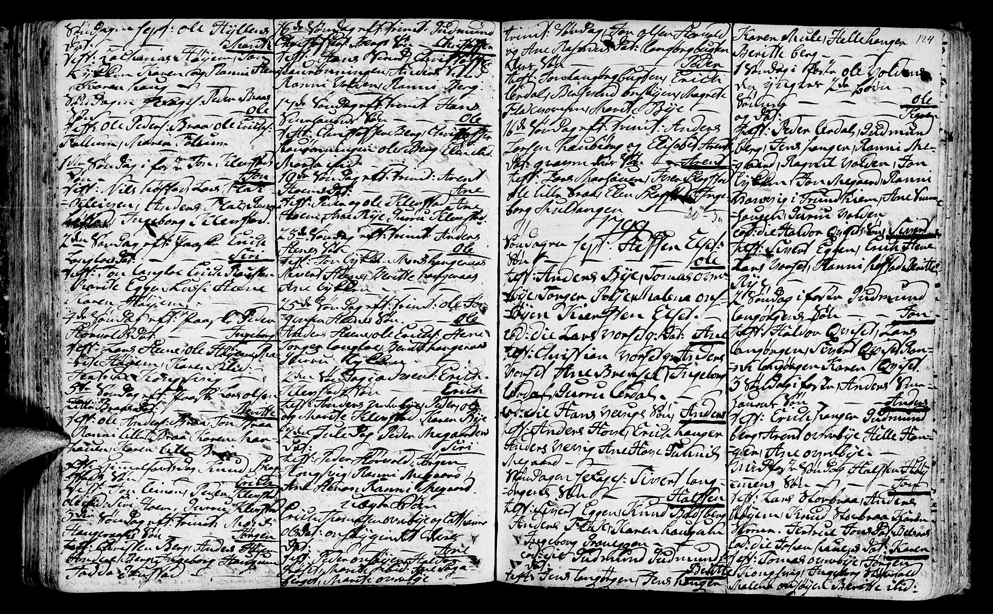 SAT, Ministerialprotokoller, klokkerbøker og fødselsregistre - Sør-Trøndelag, 612/L0370: Ministerialbok nr. 612A04, 1754-1802, s. 124