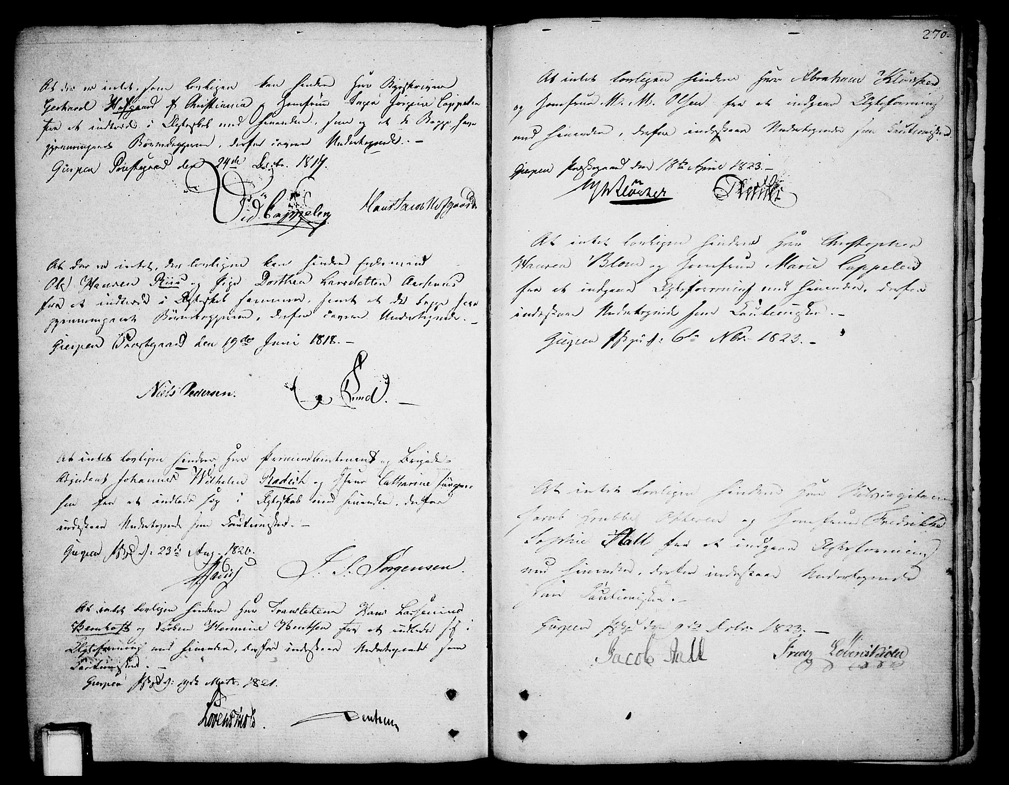 SAKO, Gjerpen kirkebøker, F/Fa/L0003: Ministerialbok nr. 3, 1796-1814, s. 270