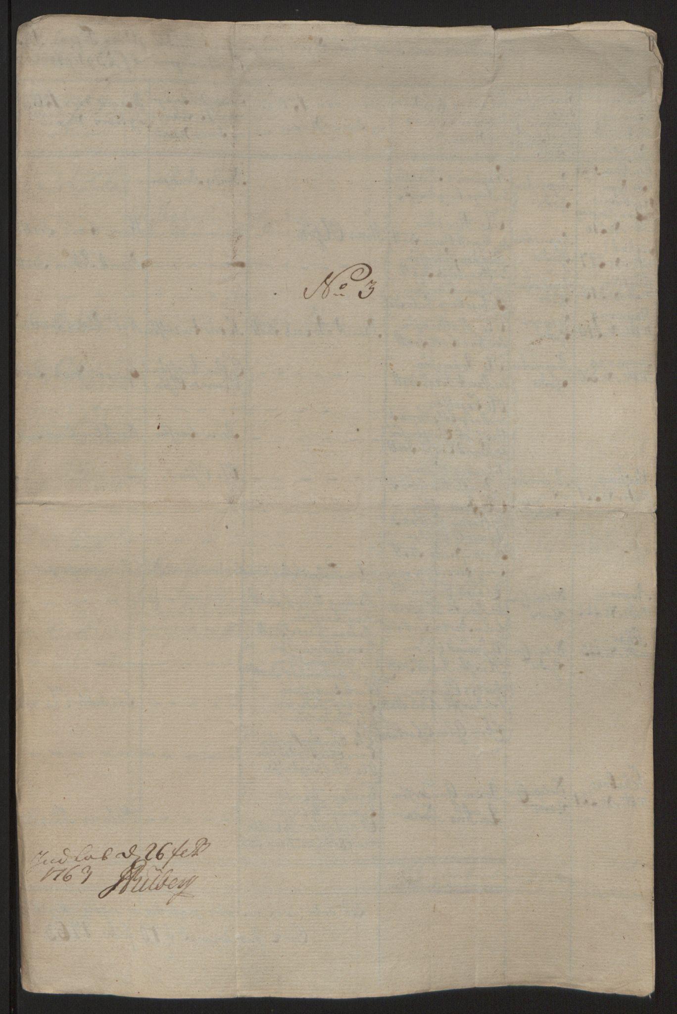 RA, Rentekammeret inntil 1814, Reviderte regnskaper, Fogderegnskap, R57/L3930: Ekstraskatten Fosen, 1762-1763, s. 365