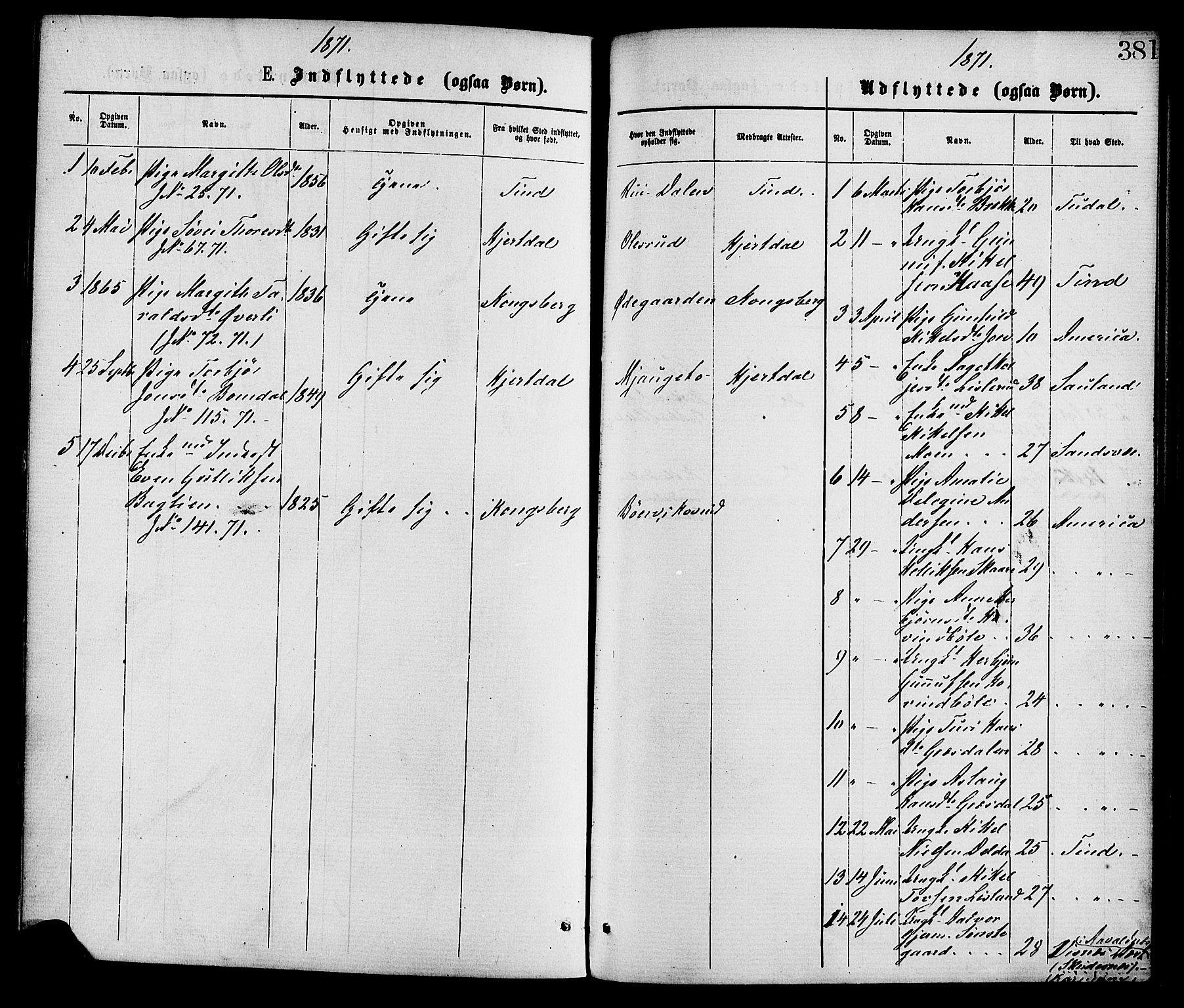 SAKO, Gransherad kirkebøker, F/Fa/L0004: Ministerialbok nr. I 4, 1871-1886, s. 381
