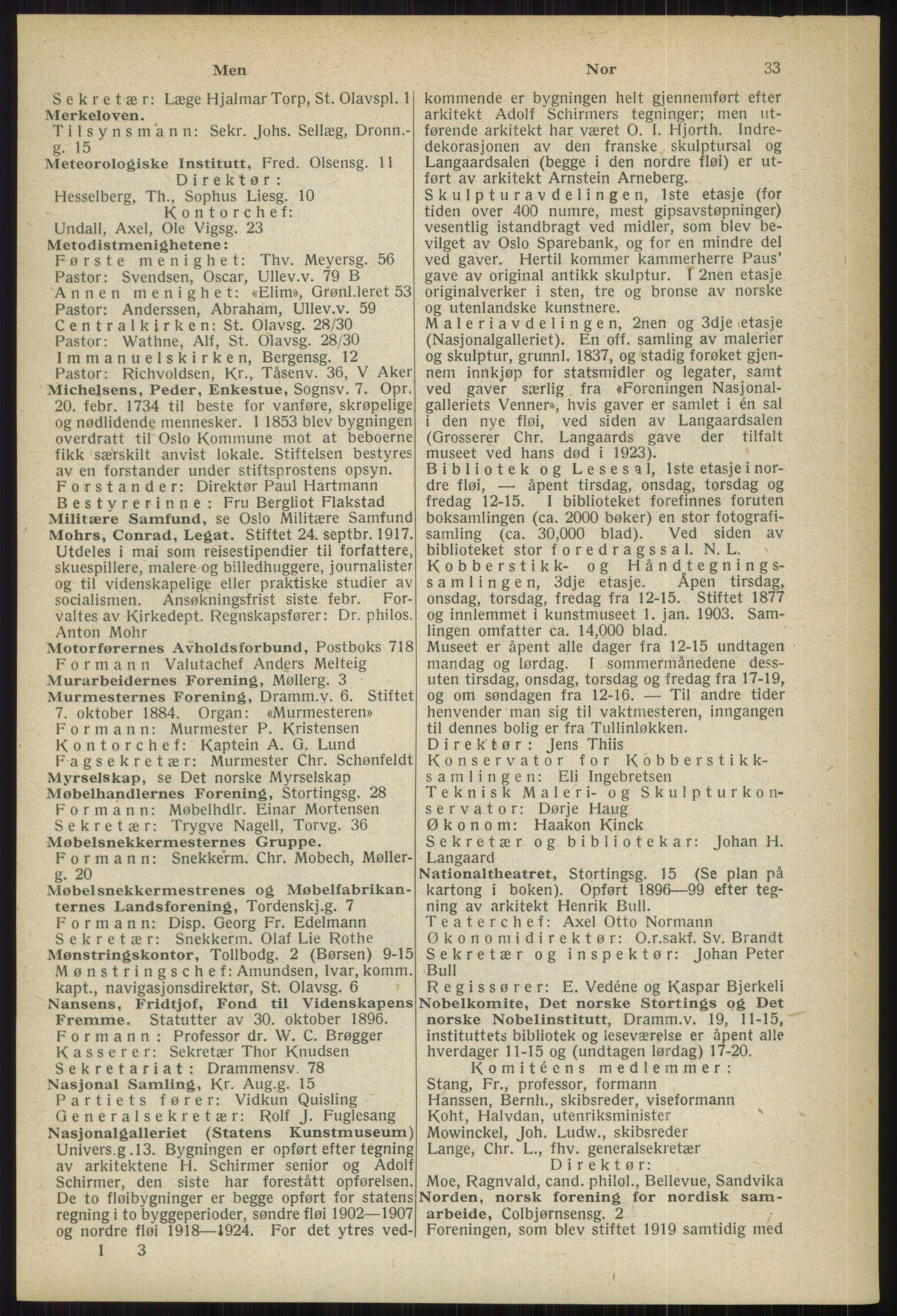 RA, Oslo adressebok (publikasjon)*, 1936, s. 33
