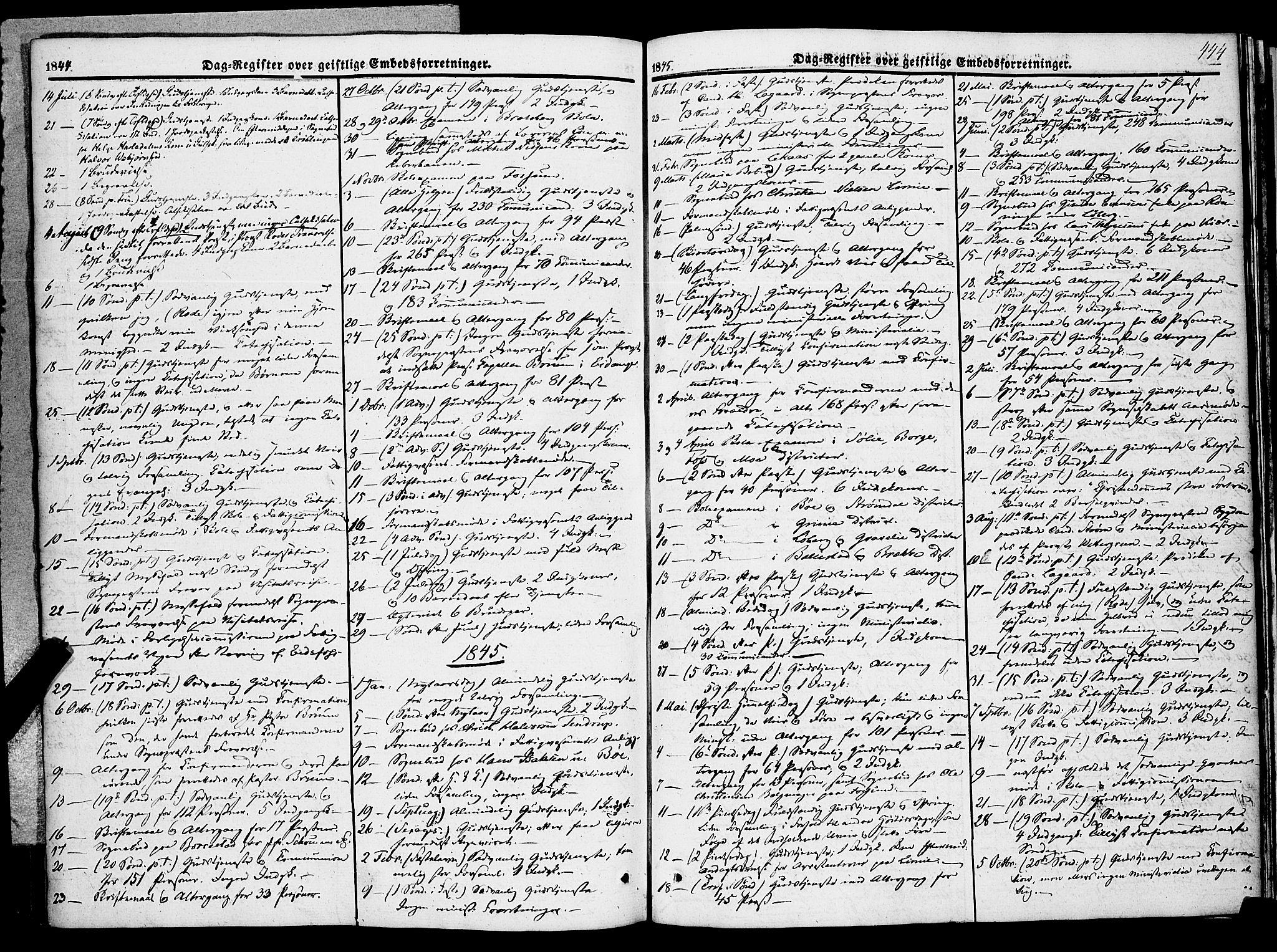 SAKO, Gjerpen kirkebøker, F/Fa/L0007b: Ministerialbok nr. 7B, 1834-1857, s. 444