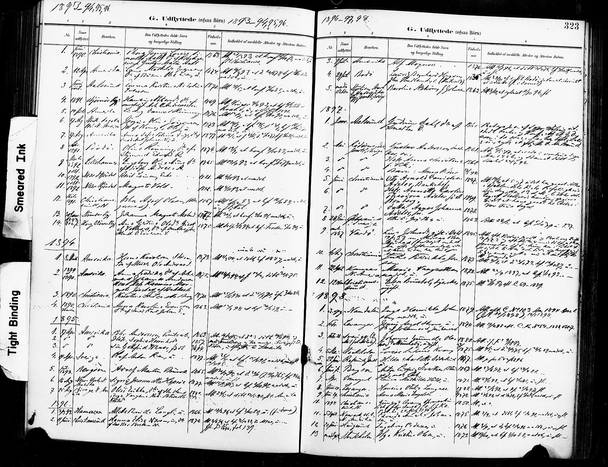 SAT, Ministerialprotokoller, klokkerbøker og fødselsregistre - Sør-Trøndelag, 604/L0198: Ministerialbok nr. 604A19, 1893-1900, s. 323