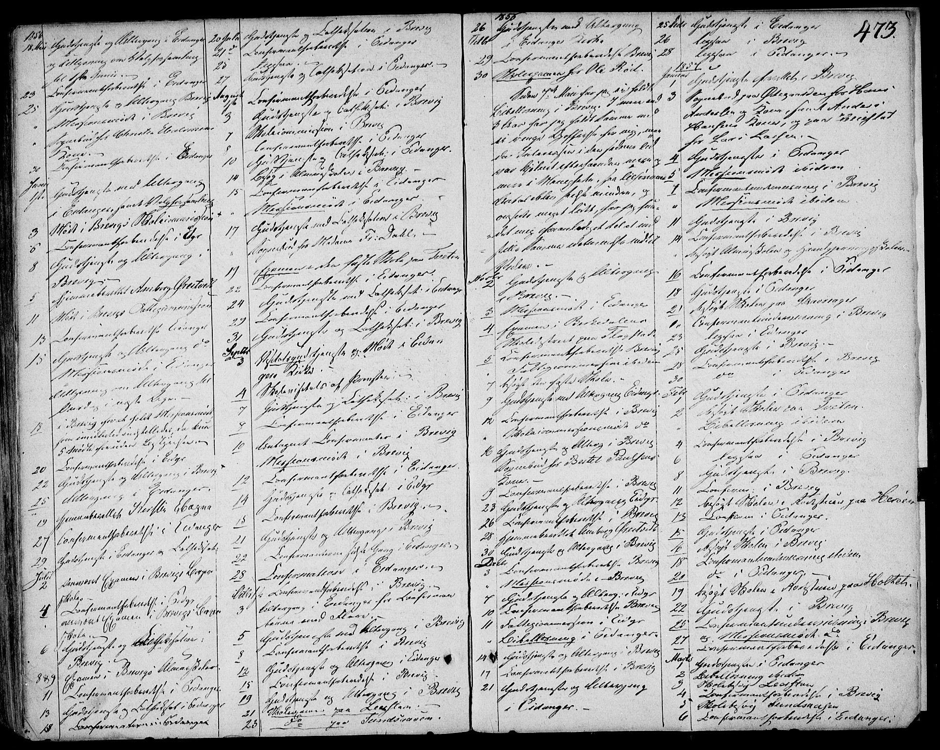 SAKO, Eidanger kirkebøker, F/Fa/L0008: Ministerialbok nr. 8, 1831-1858, s. 473