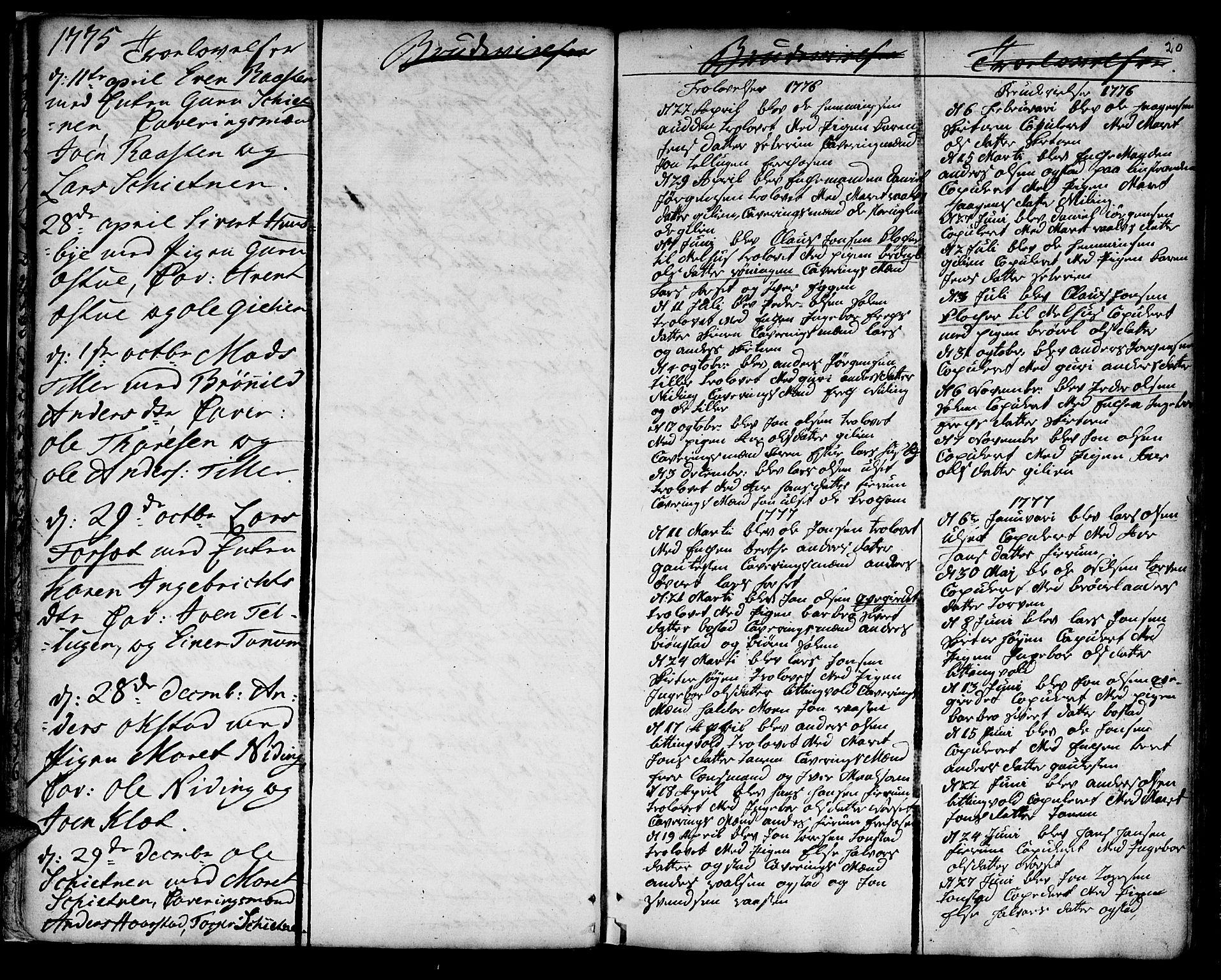 SAT, Ministerialprotokoller, klokkerbøker og fødselsregistre - Sør-Trøndelag, 618/L0437: Ministerialbok nr. 618A02, 1749-1782, s. 20