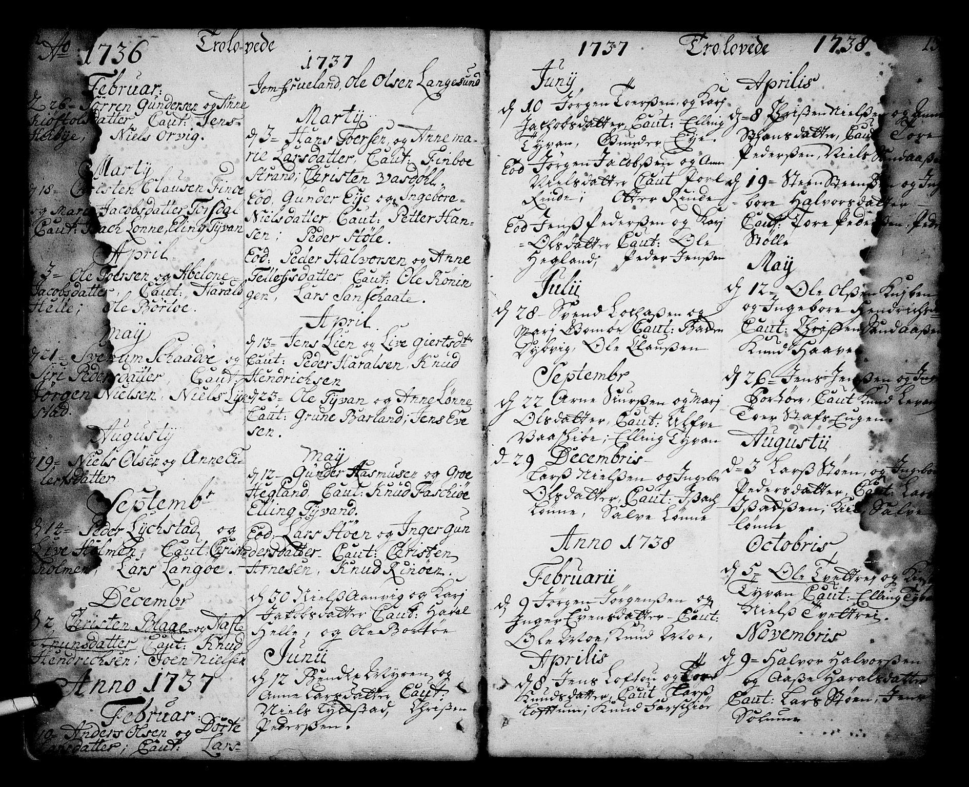 SAKO, Sannidal kirkebøker, F/Fa/L0001: Ministerialbok nr. 1, 1702-1766, s. 12-13