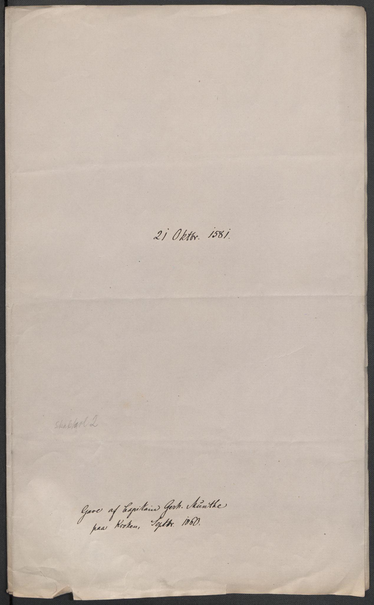 RA, Riksarkivets diplomsamling, F02/L0083: Dokumenter, 1581, s. 36