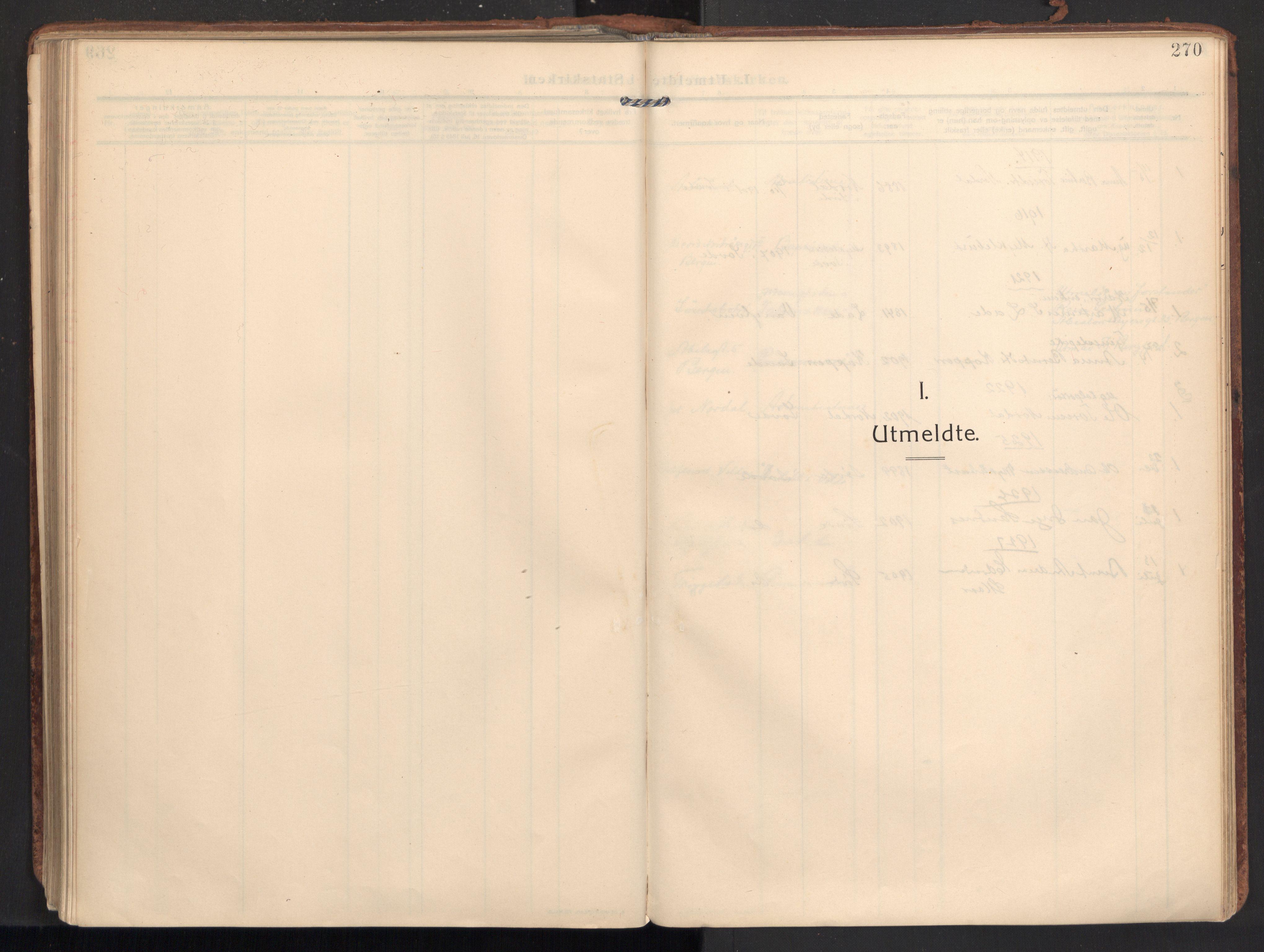 SAT, Ministerialprotokoller, klokkerbøker og fødselsregistre - Møre og Romsdal, 502/L0026: Ministerialbok nr. 502A04, 1909-1933, s. 270