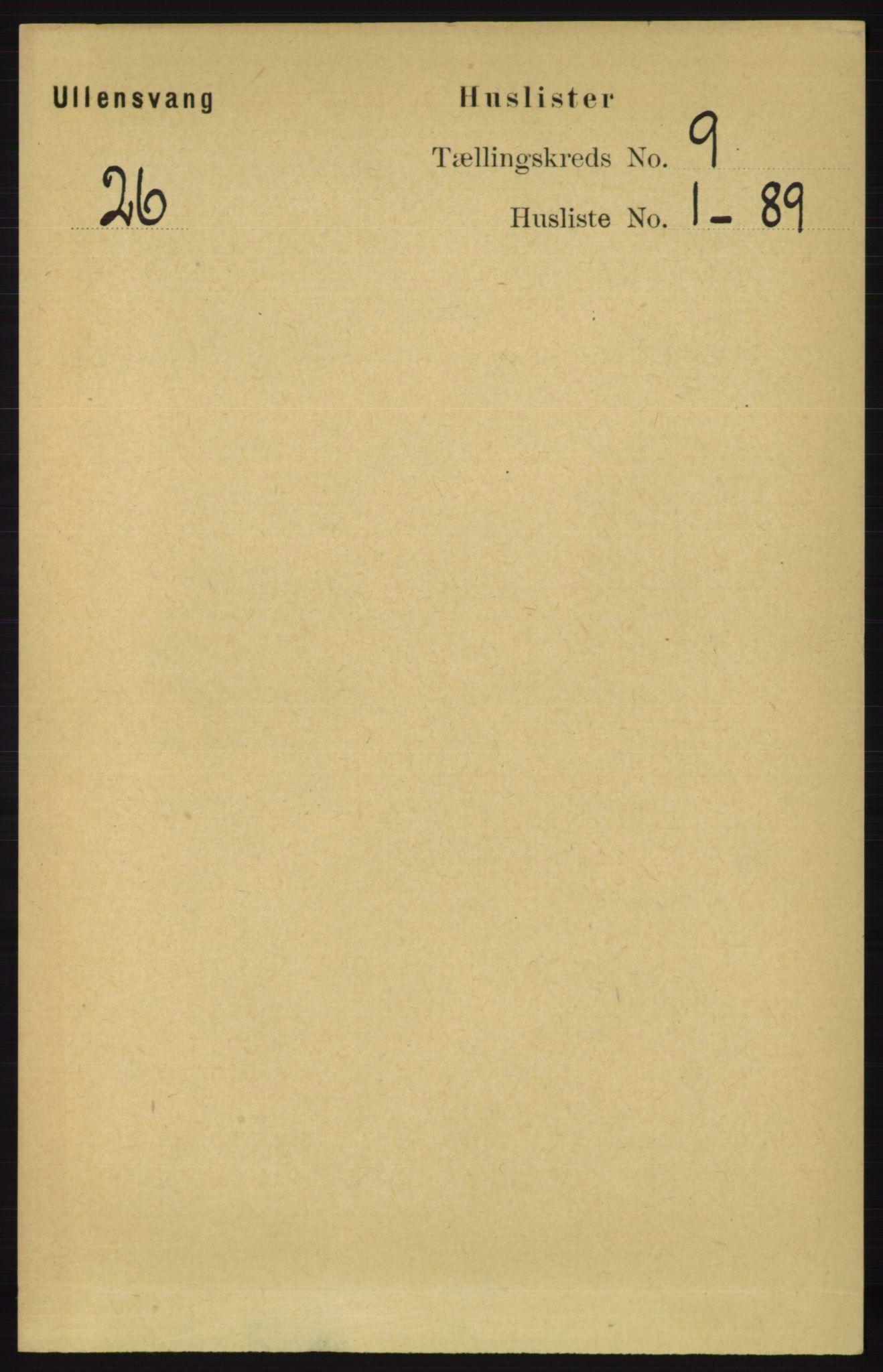RA, Folketelling 1891 for 1230 Ullensvang herred, 1891, s. 3070