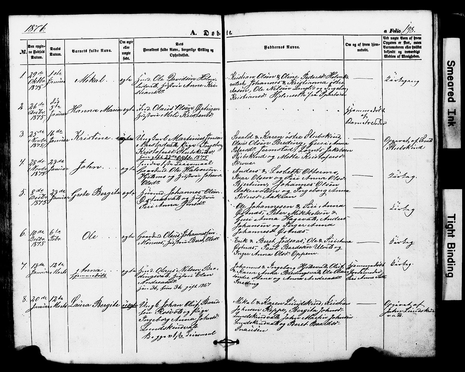 SAT, Ministerialprotokoller, klokkerbøker og fødselsregistre - Nord-Trøndelag, 724/L0268: Klokkerbok nr. 724C04, 1846-1878, s. 198