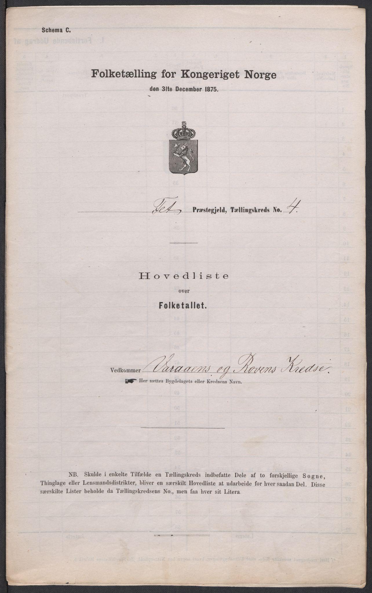 RA, Folketelling 1875 for 0227P Fet prestegjeld, 1875, s. 57