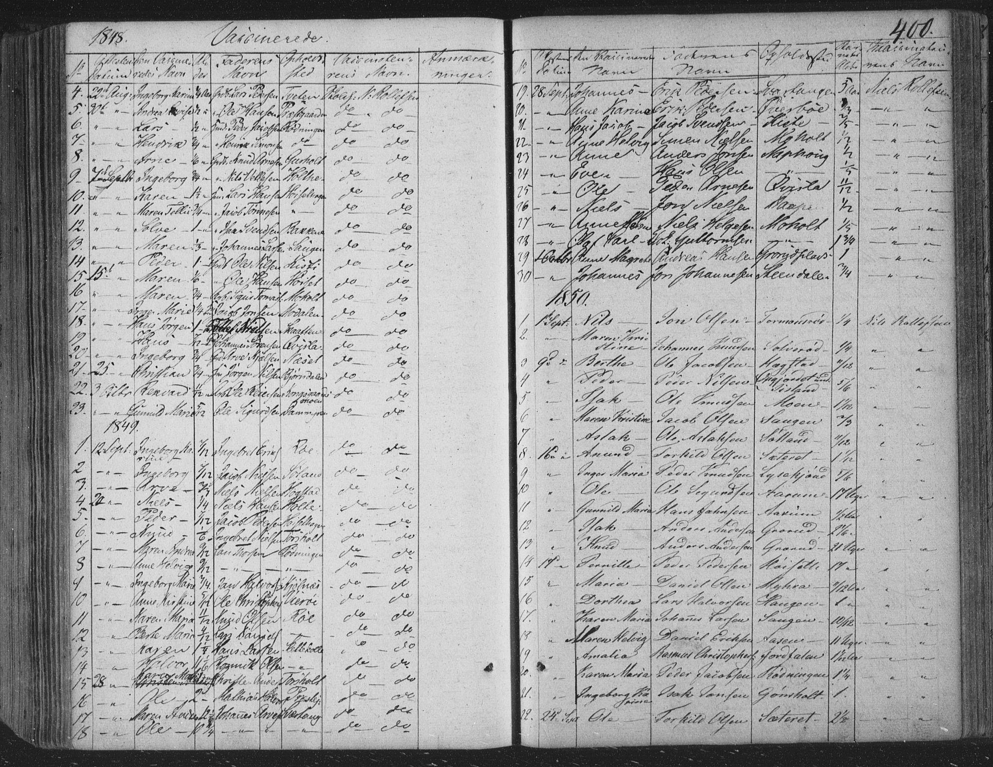 SAKO, Siljan kirkebøker, F/Fa/L0001: Ministerialbok nr. 1, 1831-1870, s. 400