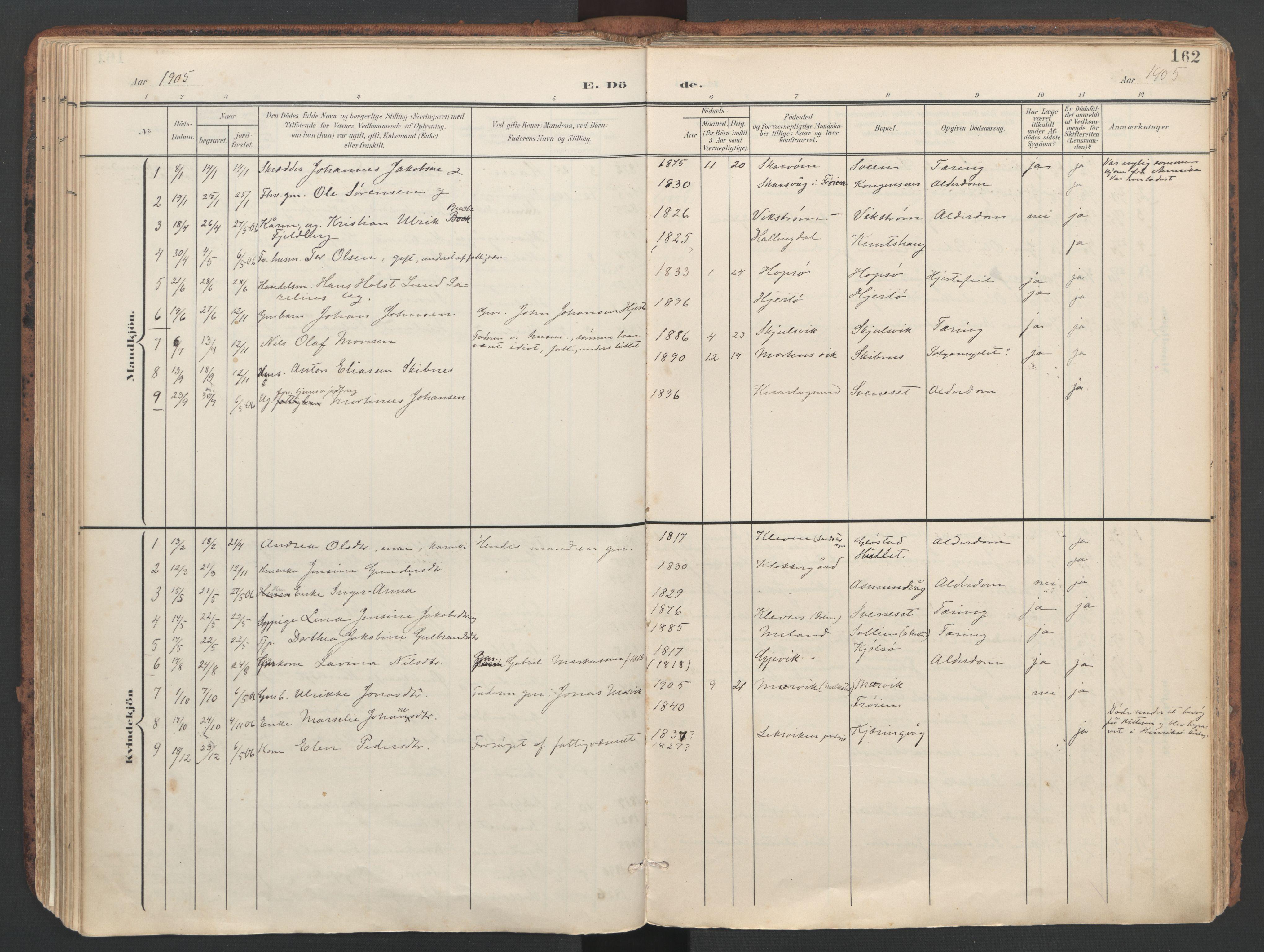SAT, Ministerialprotokoller, klokkerbøker og fødselsregistre - Sør-Trøndelag, 634/L0537: Ministerialbok nr. 634A13, 1896-1922, s. 162