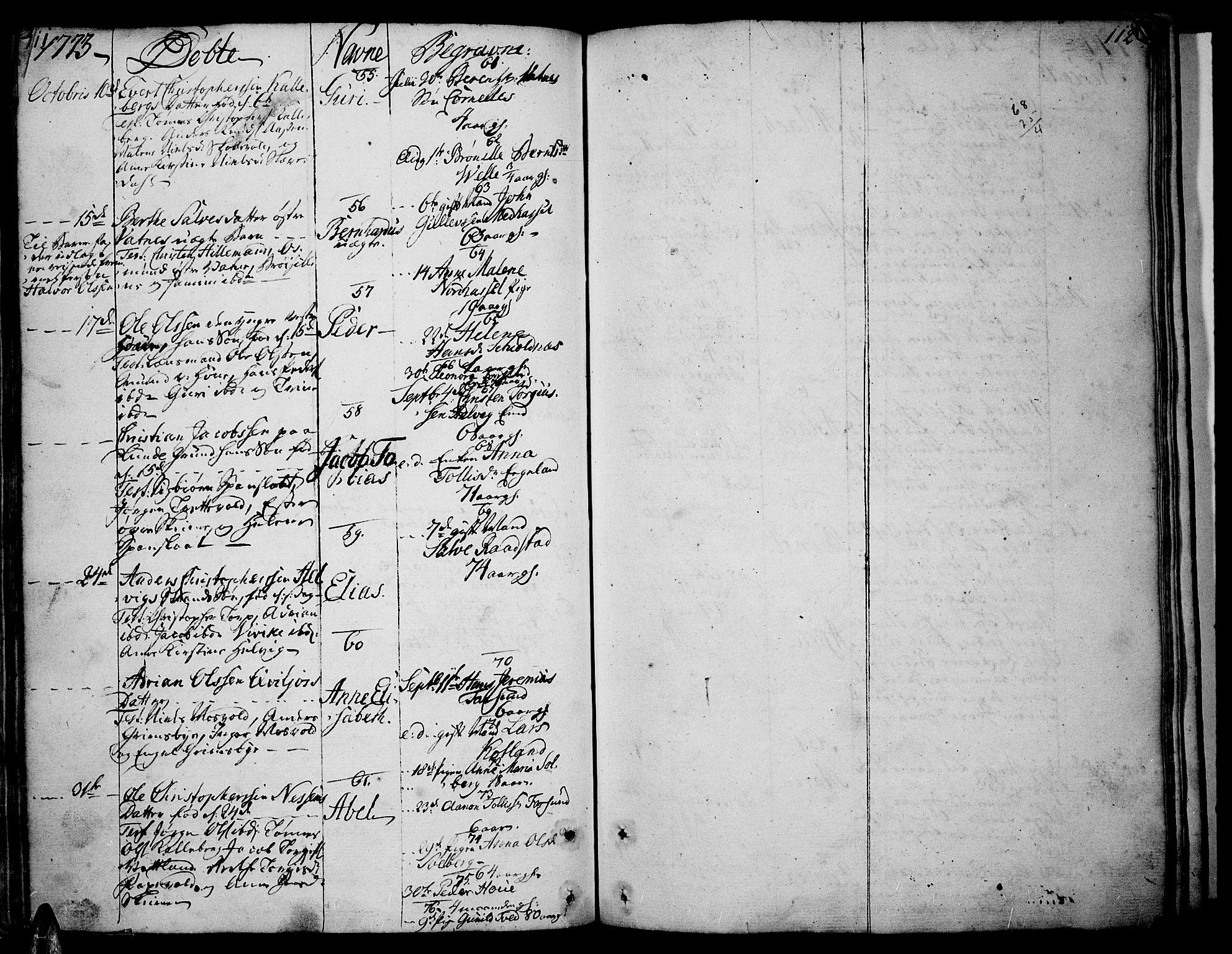 SAK, Lista sokneprestkontor, F/Fa/L0004: Ministerialbok nr. A 4, 1768-1794, s. 111-112