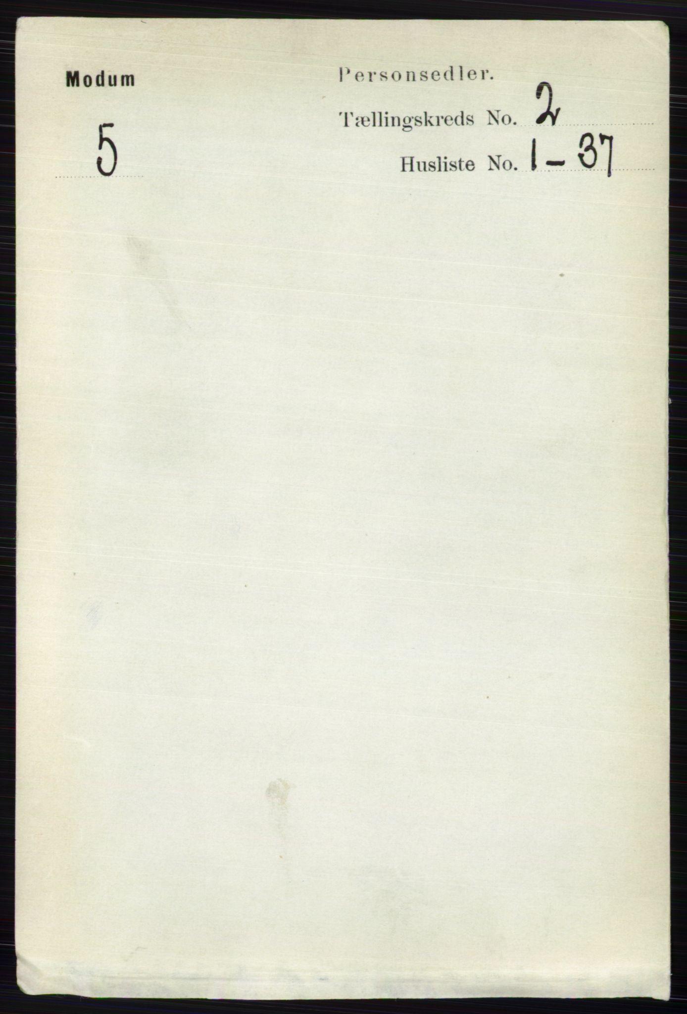 RA, Folketelling 1891 for 0623 Modum herred, 1891, s. 472