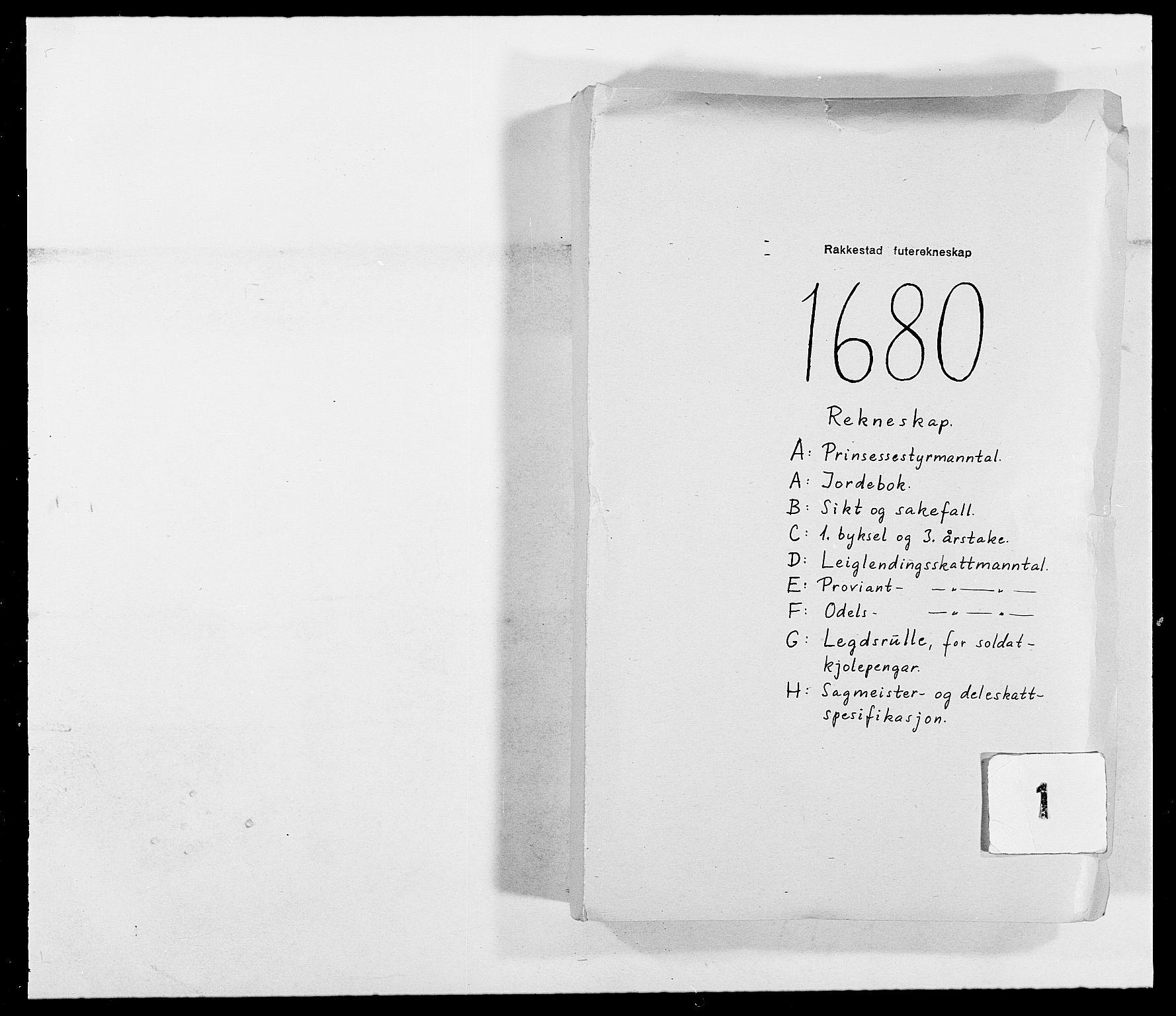 RA, Rentekammeret inntil 1814, Reviderte regnskaper, Fogderegnskap, R05/L0272: Fogderegnskap Rakkestad, 1680-1681, s. 1