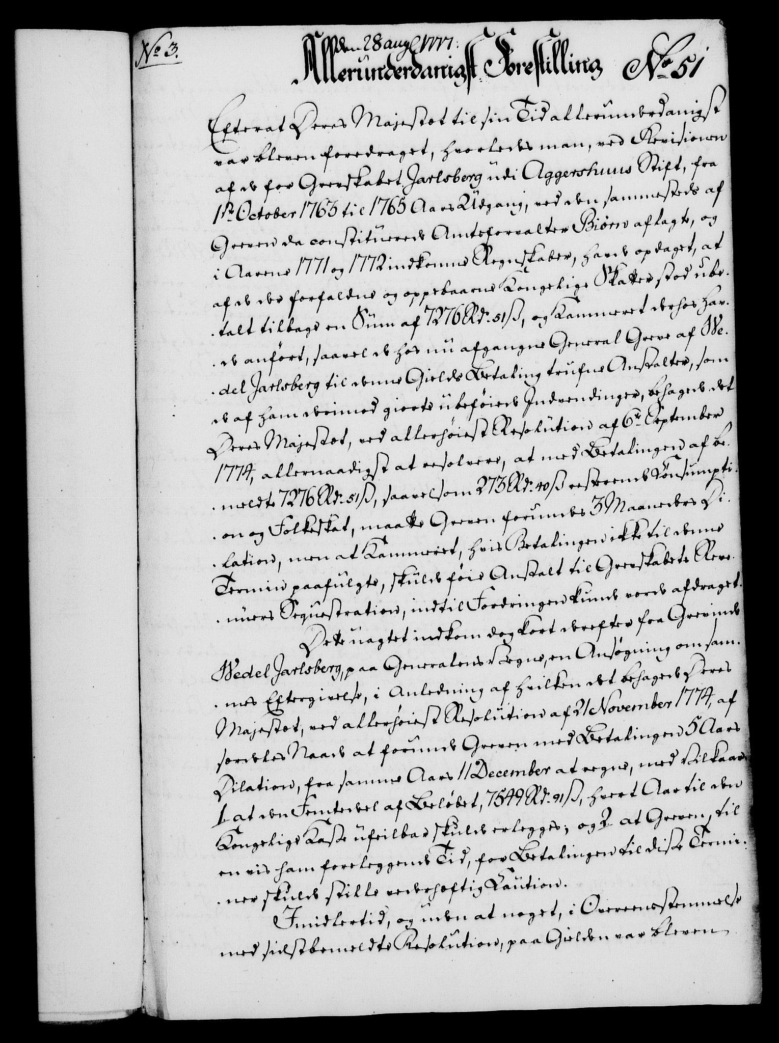 RA, Rentekammeret, Kammerkanselliet, G/Gf/Gfa/L0059: Norsk relasjons- og resolusjonsprotokoll (merket RK 52.59), 1777, s. 265