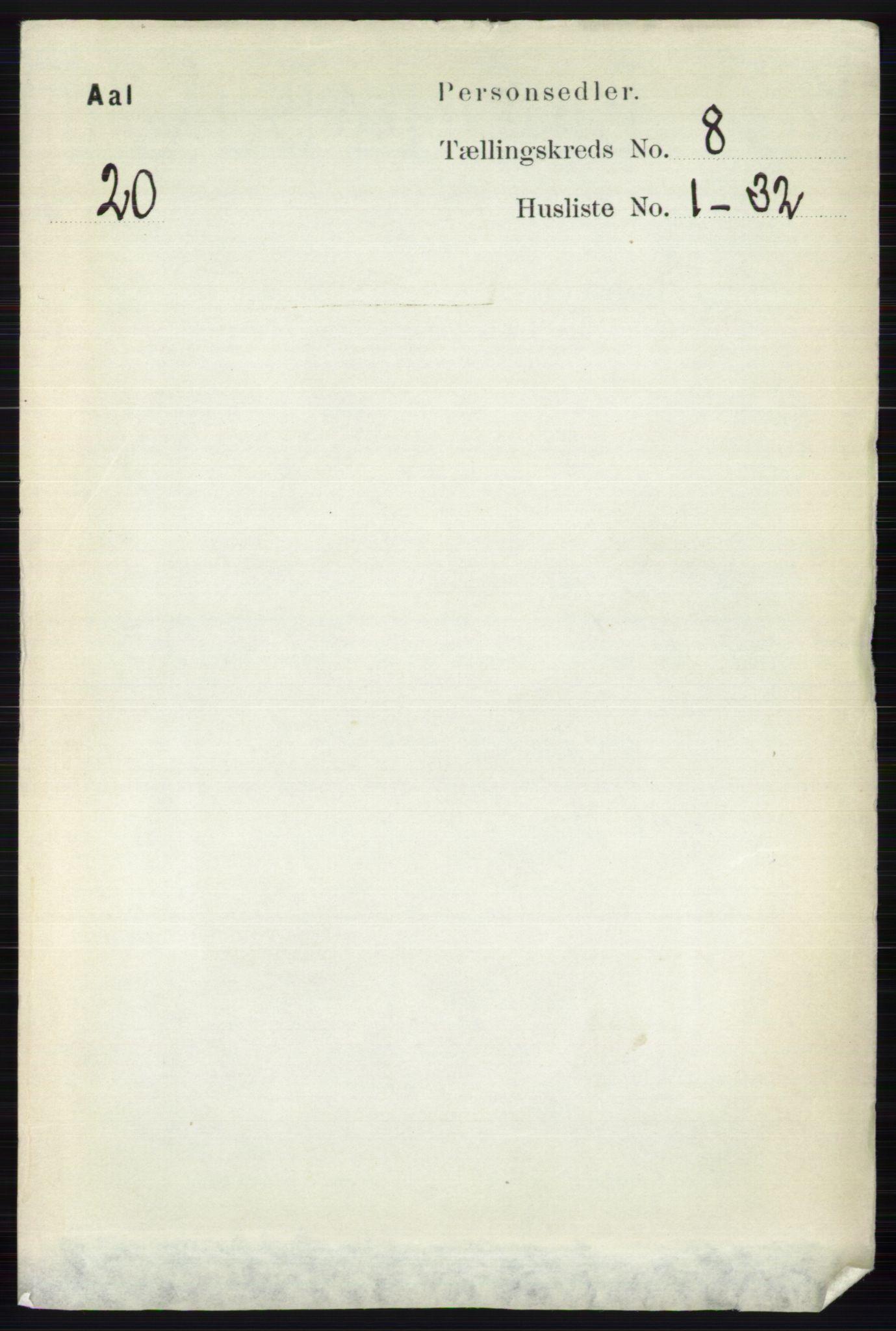 RA, Folketelling 1891 for 0619 Ål herred, 1891, s. 2092