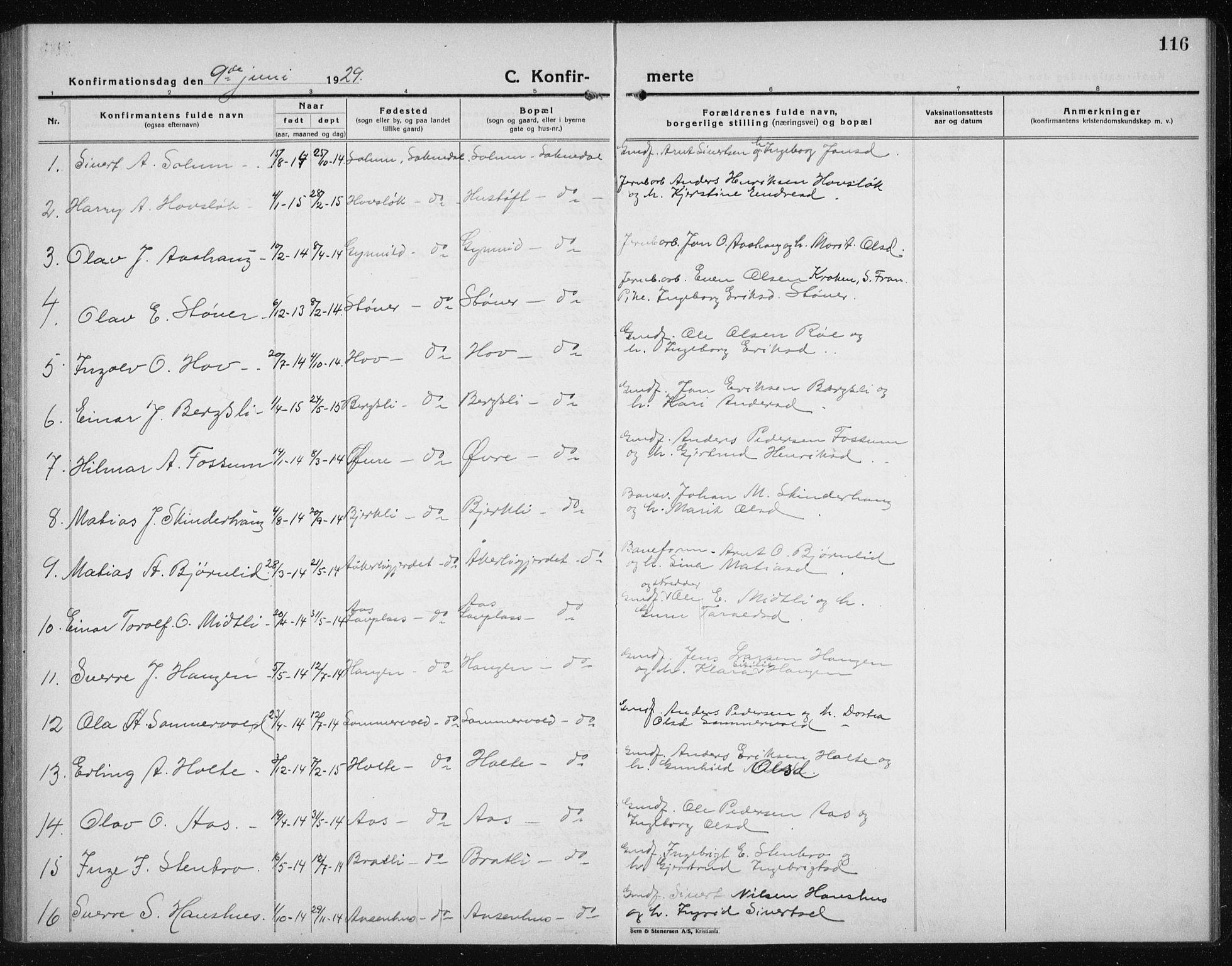 SAT, Ministerialprotokoller, klokkerbøker og fødselsregistre - Sør-Trøndelag, 689/L1045: Klokkerbok nr. 689C04, 1923-1940, s. 116