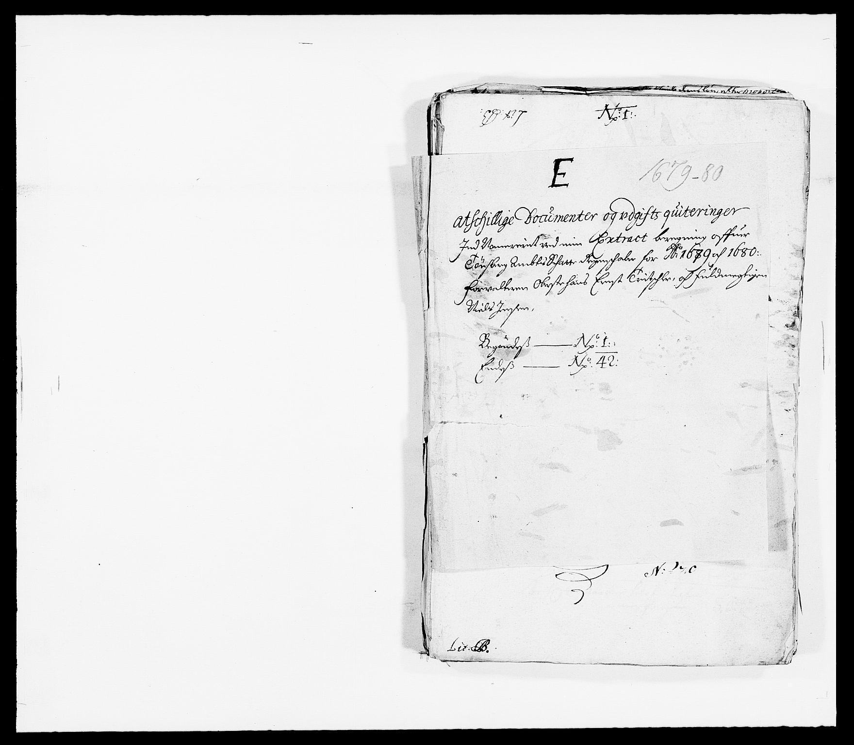 RA, Rentekammeret inntil 1814, Reviderte regnskaper, Fogderegnskap, R32/L1849: Fogderegnskap Jarlsberg grevskap, 1679-1680, s. 113